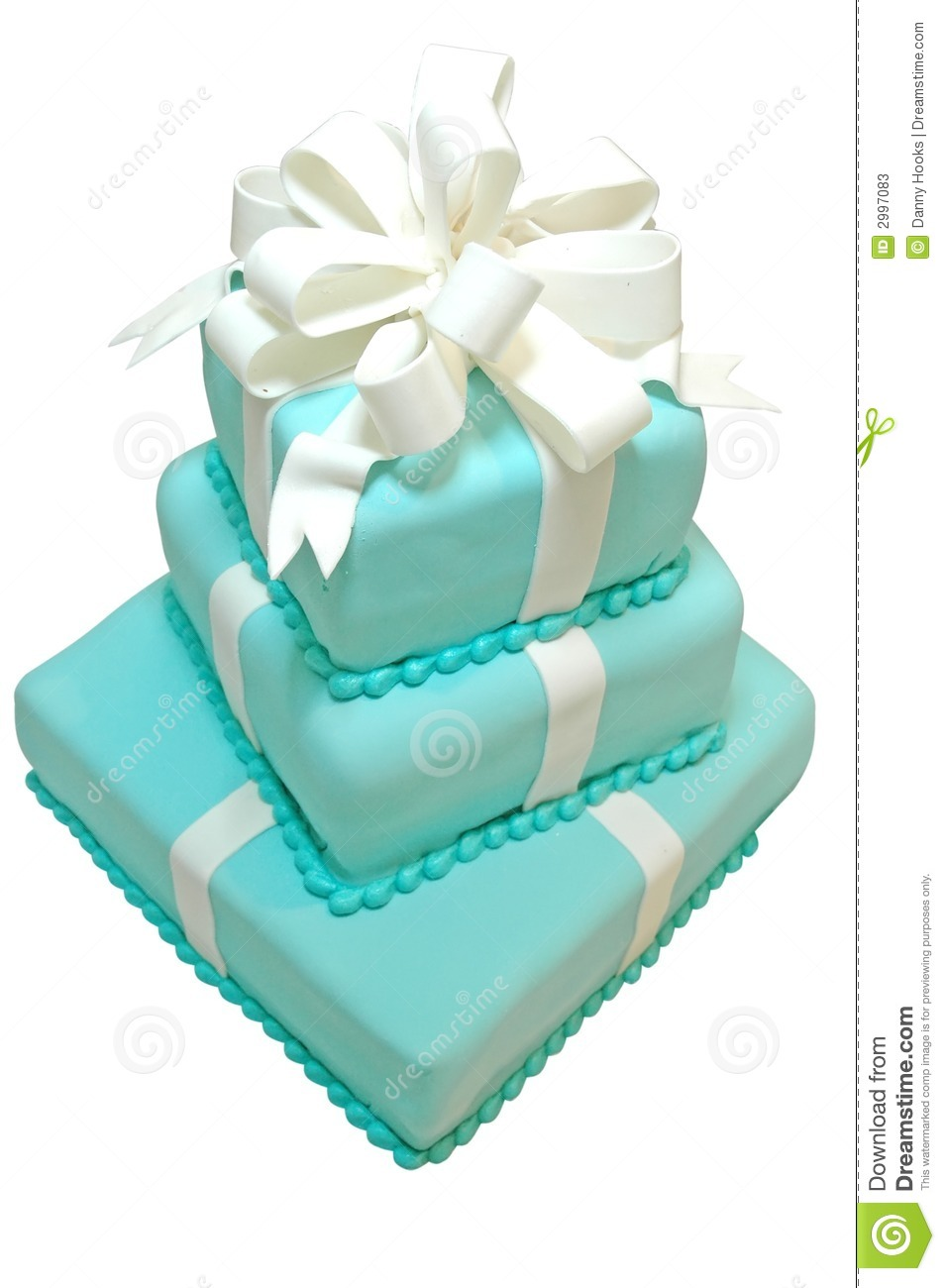 Formal birthday cake isolated on white background with clipping path.