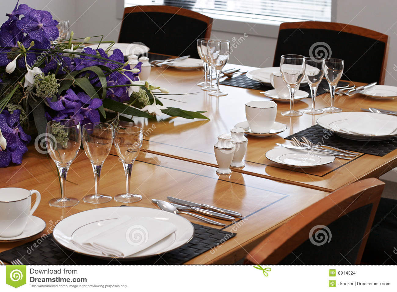 Formal Dining Table Set Up Stock Photo Image Of Celbrate