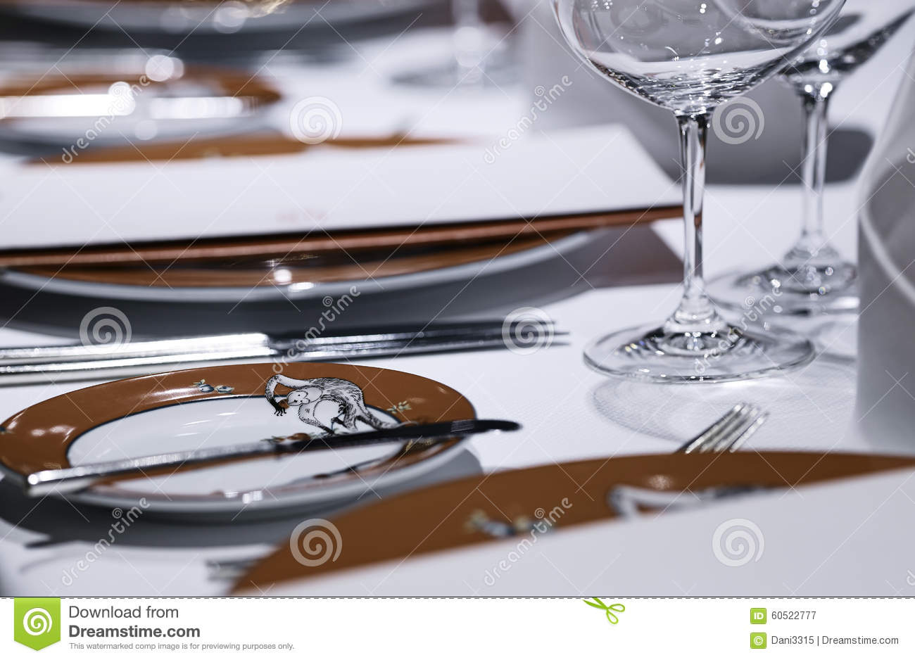 Formal Dining Table Set Up Stock Photo Image 60522777