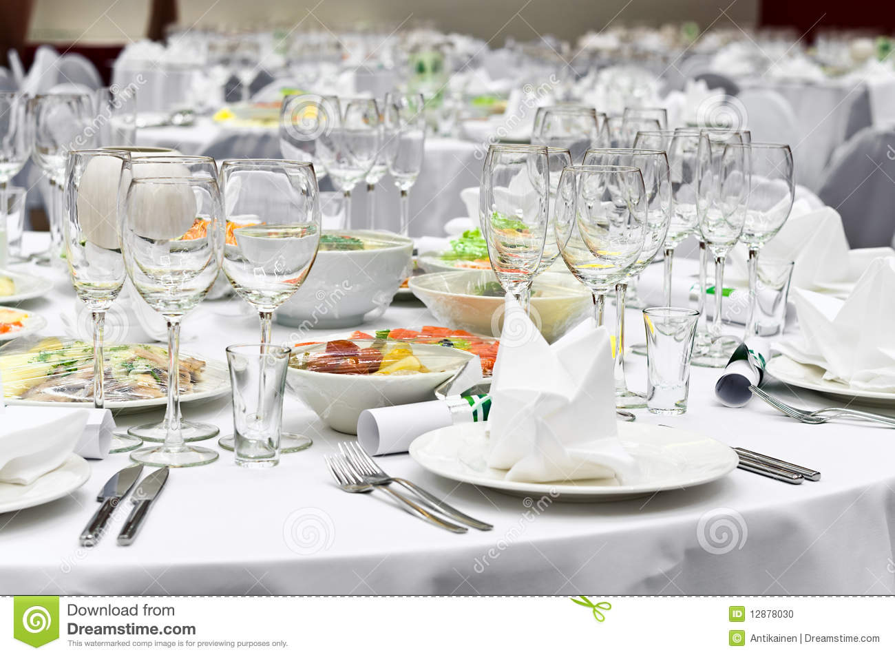 formal dinner service as at a wedding banquet stock photo image of napkin lifestyles 12878030. Black Bedroom Furniture Sets. Home Design Ideas