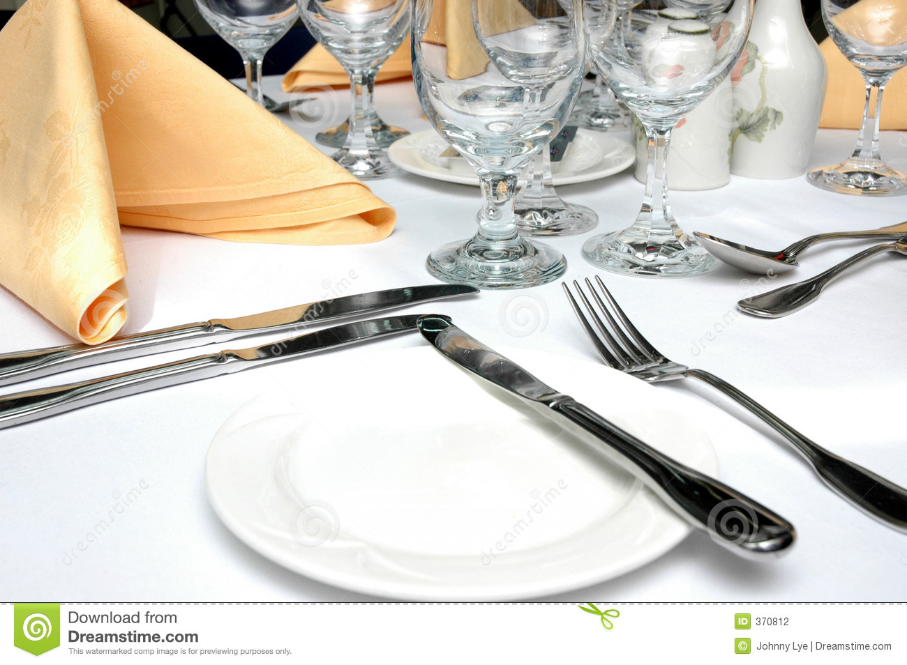 Formal Dinner Setting Stock Photo Image Of Ambiance Mood