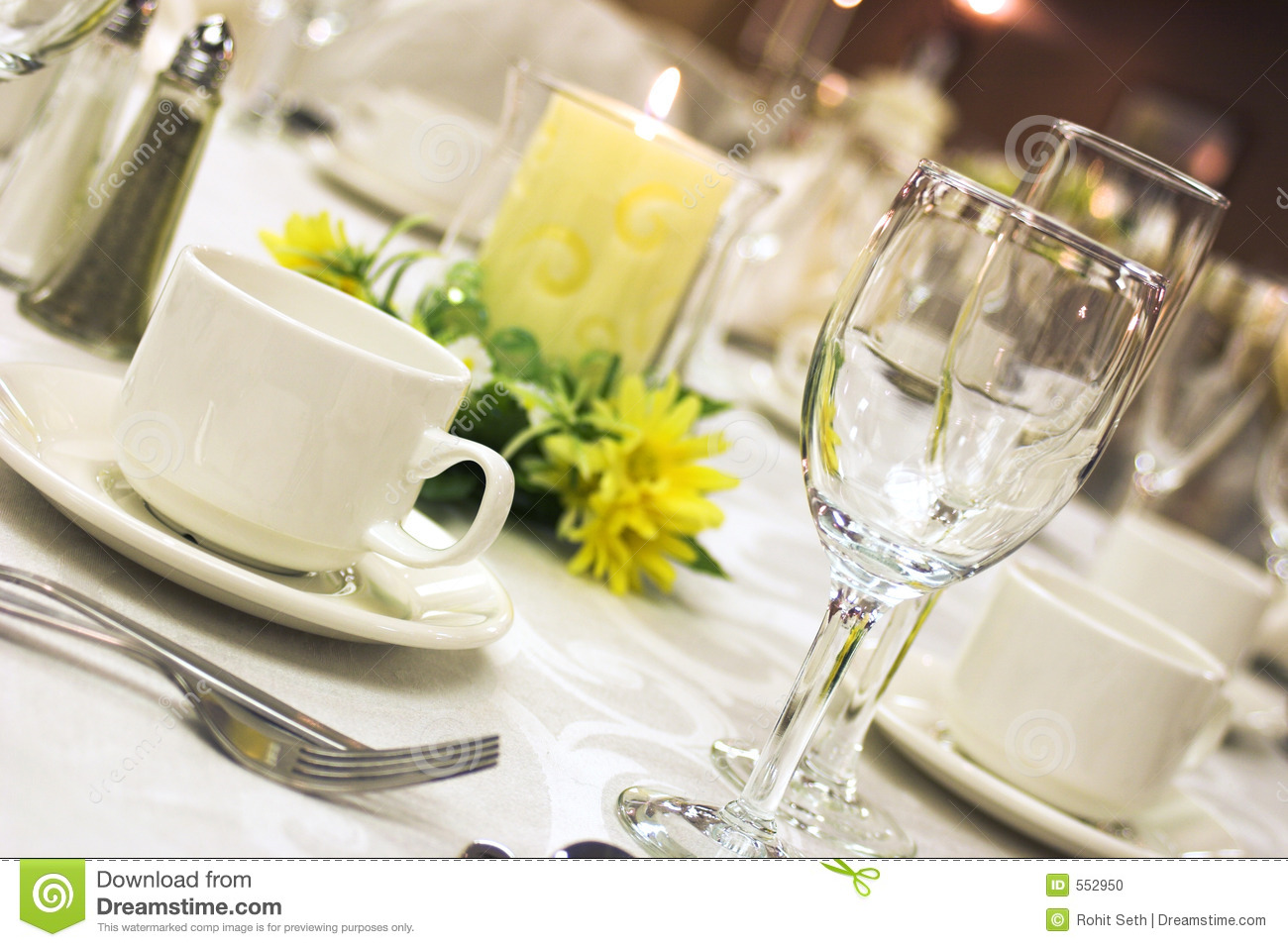 Formal Dinner Setting Stock Photo Image 552950