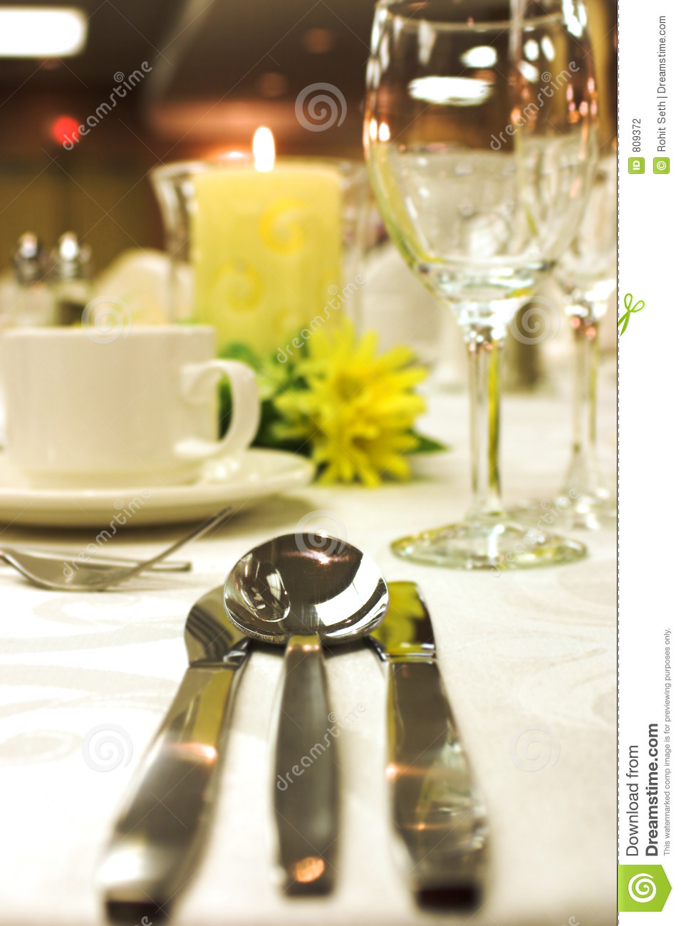 Formal Dinner Setting Stock Photo Image Of Cutlery