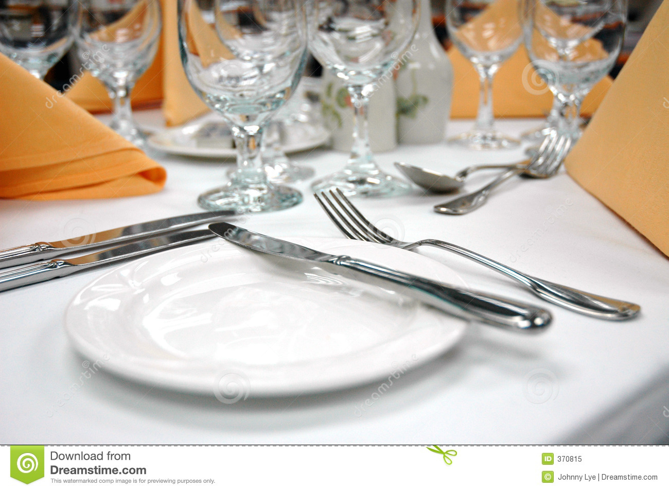 Formal Dinner Setting Bread Plate Royalty Free Stock