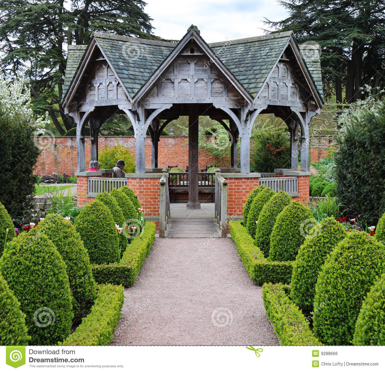 formal english garden stock photo  image of path  gardening