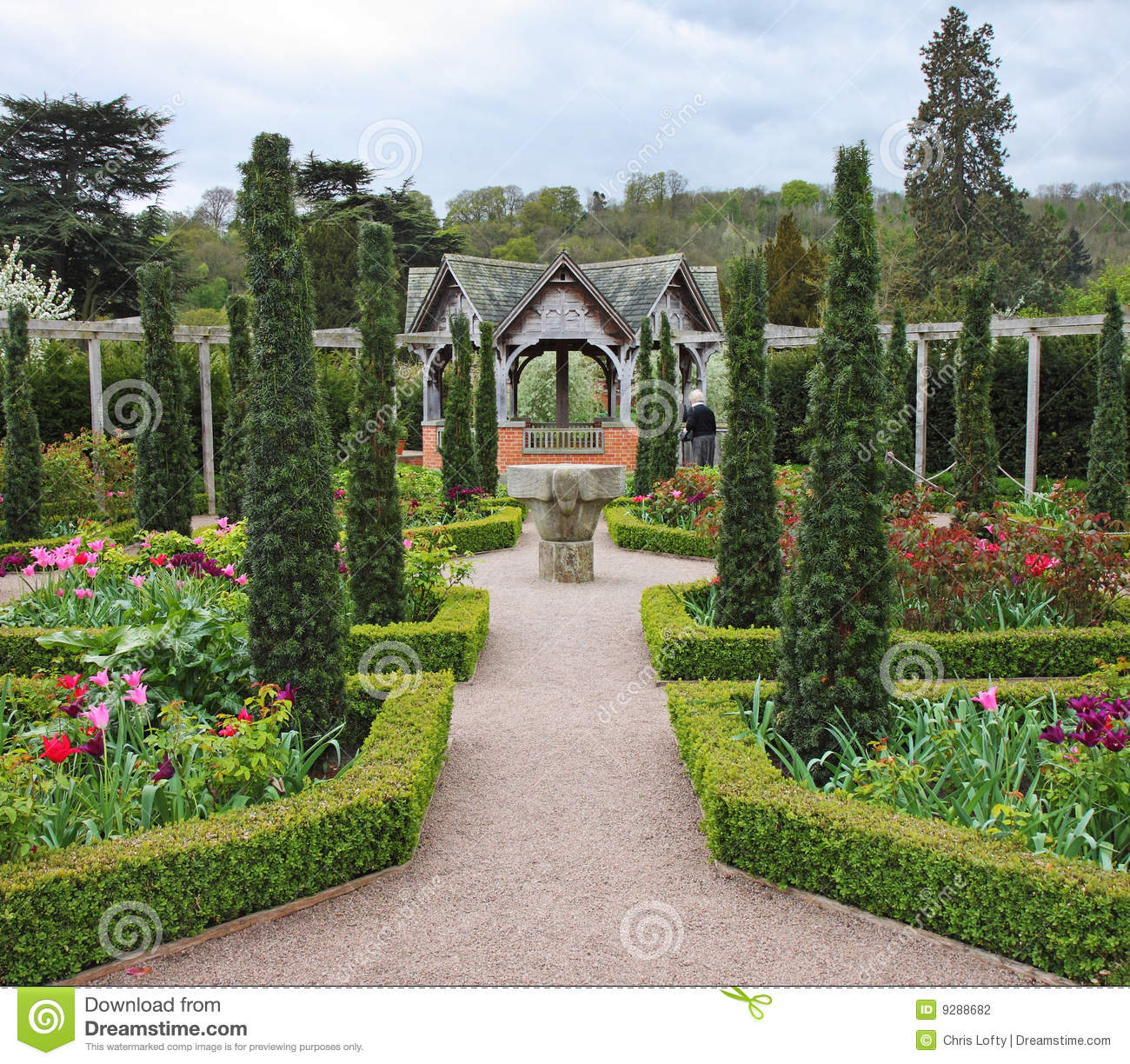formal english garden stock photo  image of england  heritage