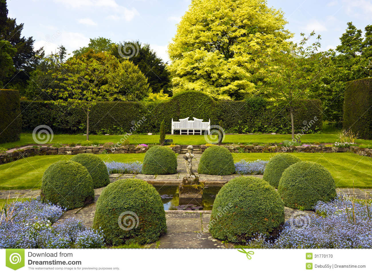 Formal English Garden Stock Photo Image Of Hall House