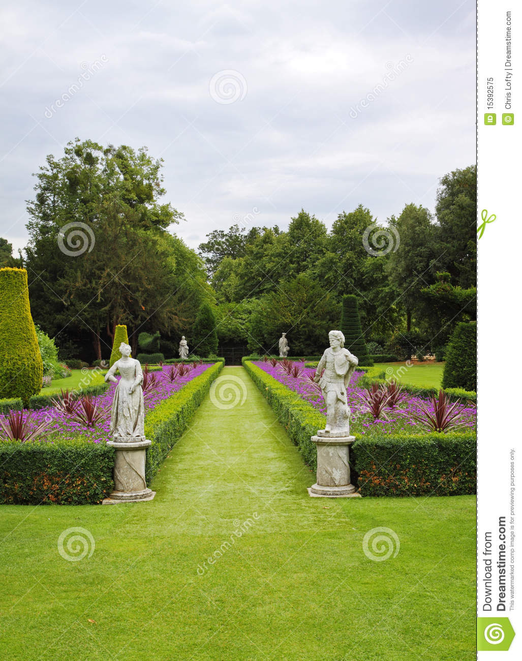 a formal english landscaped garden royalty free stock photo