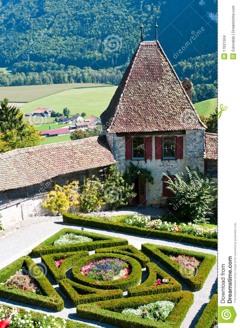 Formal French Garden Stock Images Image 17631504