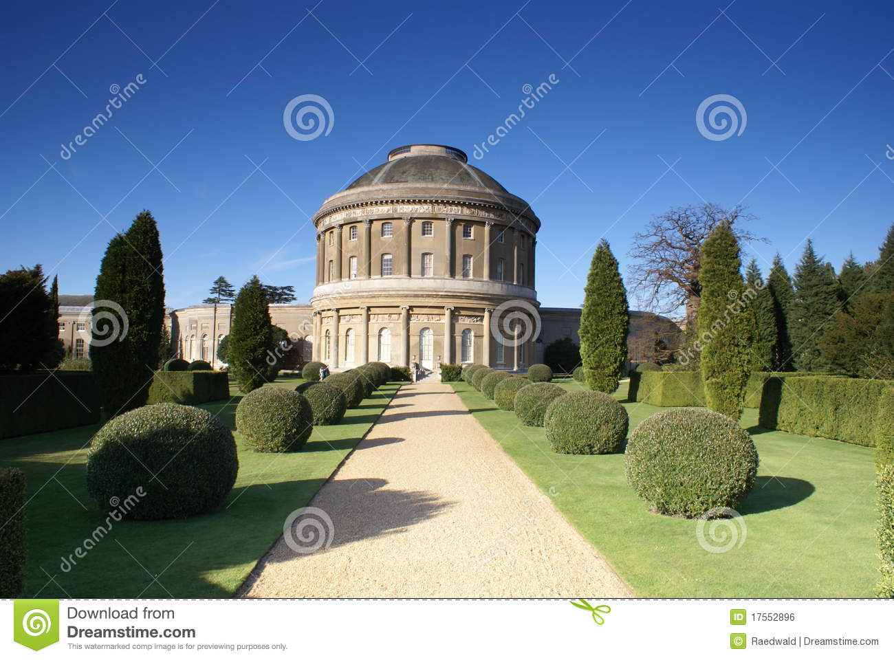 Formal garden of the old English stately home