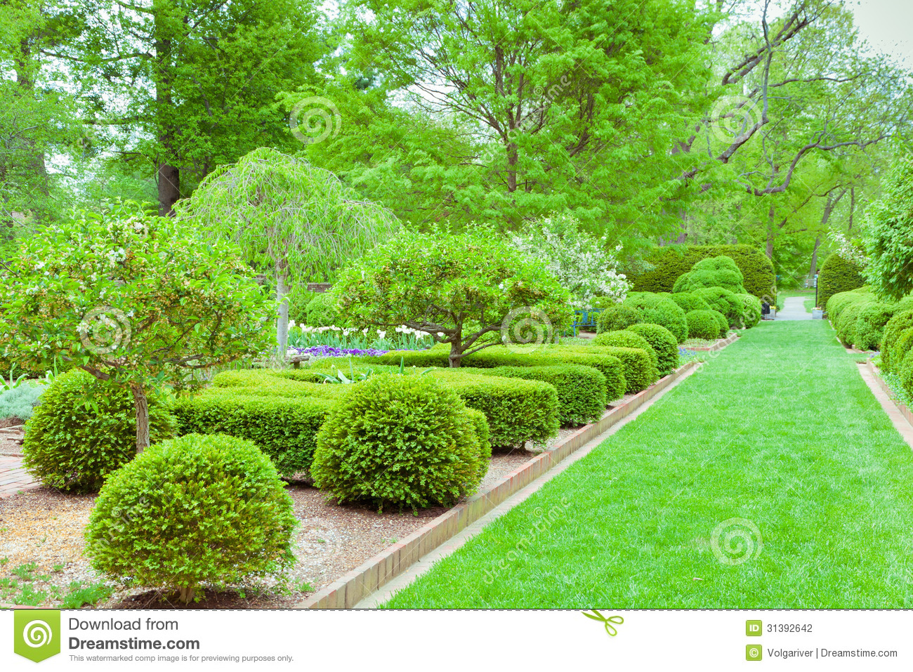 Formal Garden At Spring Stock Photo Image Of Harmony