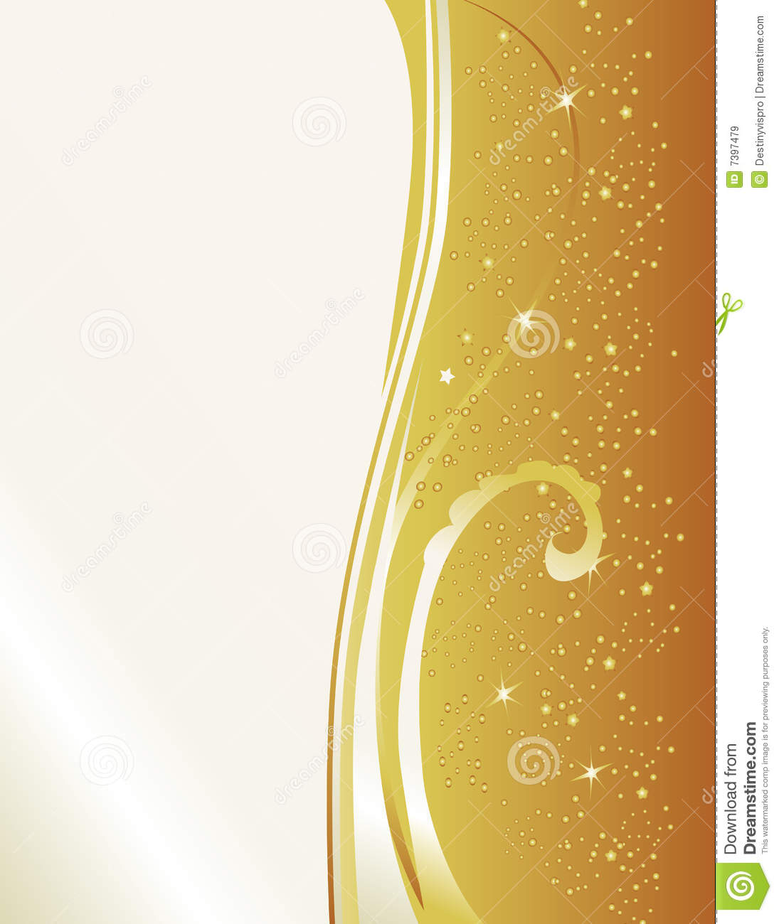Formal Gold Invitation Stock Illustration Illustration Of Swirl