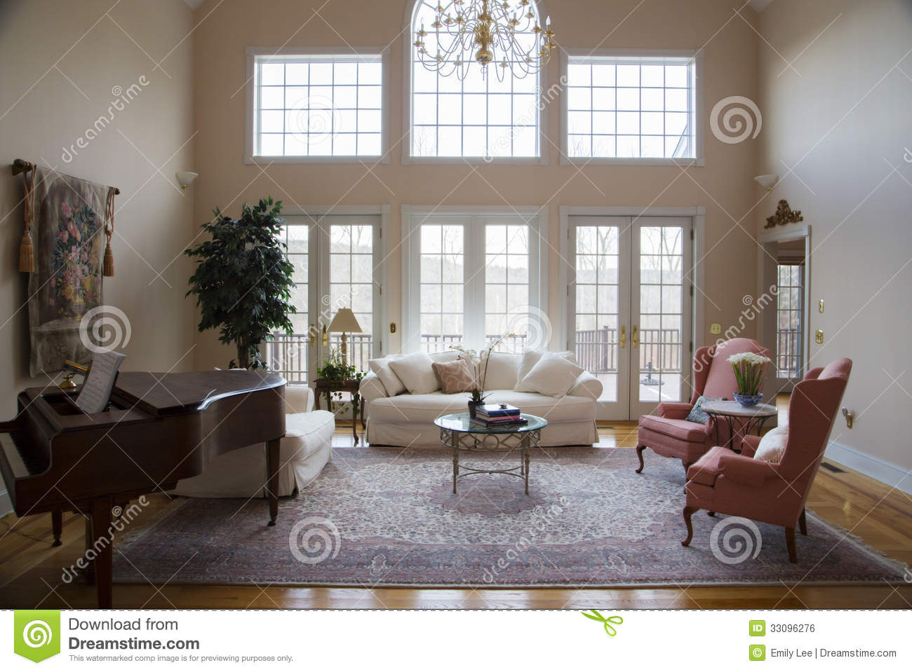 Formal living room royalty free stock image image 33096276 for Bright neutral paint colors