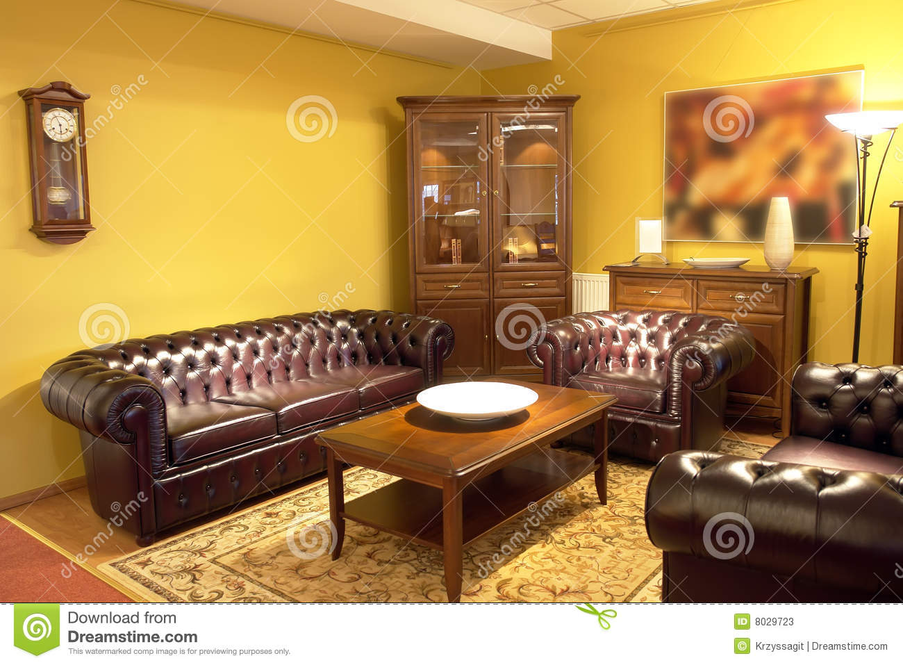 . Formal living room setting stock image  Image of area   8029723