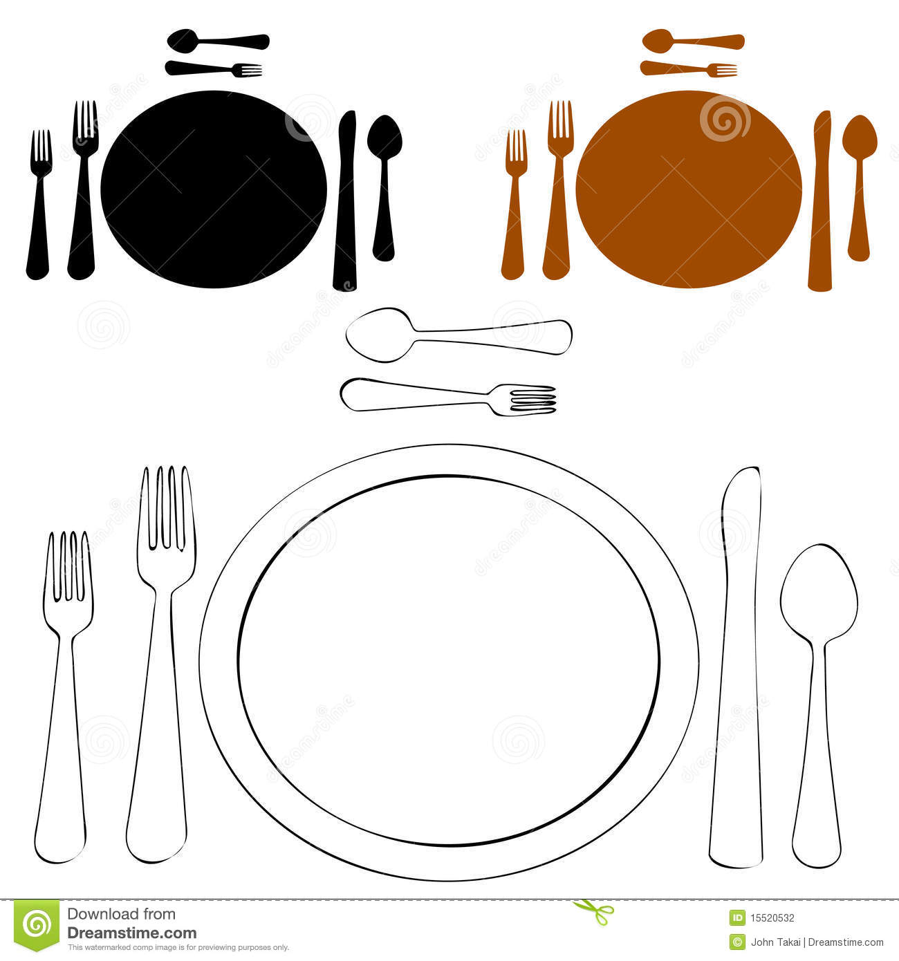 Formal Place Setting Stock Photography Image 15520532