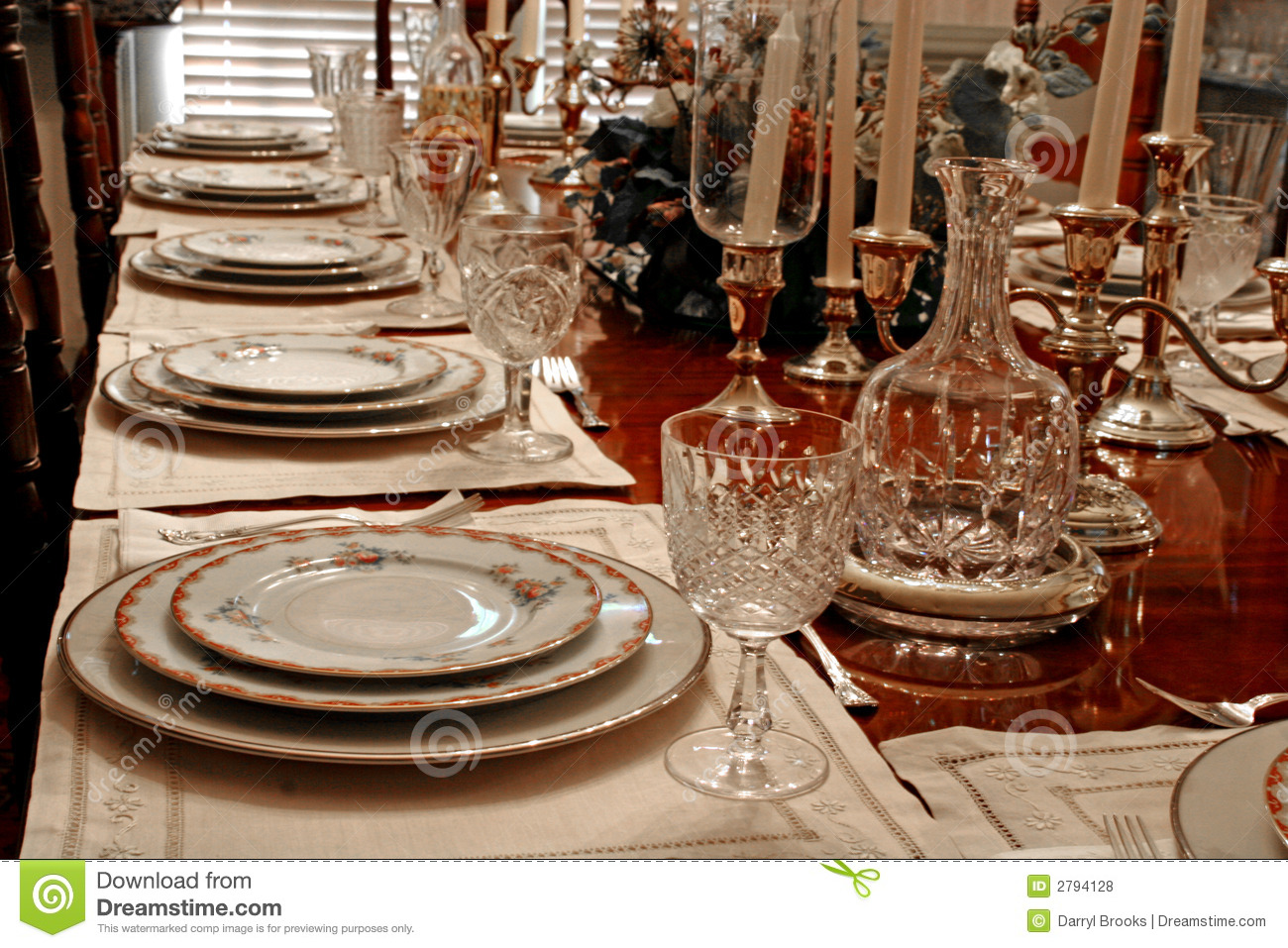 formal place setting royalty free stock photos - image: 2794128