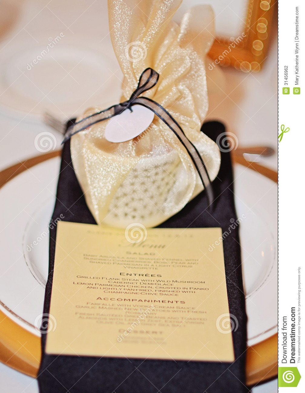 candlelit gold and black evening formal wedding reception table.: www.dreamstime.com/stock-photography-formal-table-setting-candlelit...