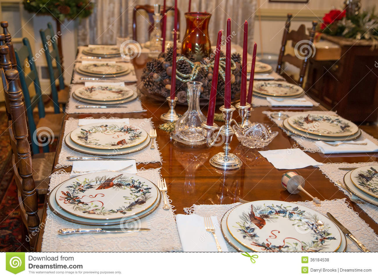 Formal Table At Thanksgiving Royalty Free Stock Photos - Image ...