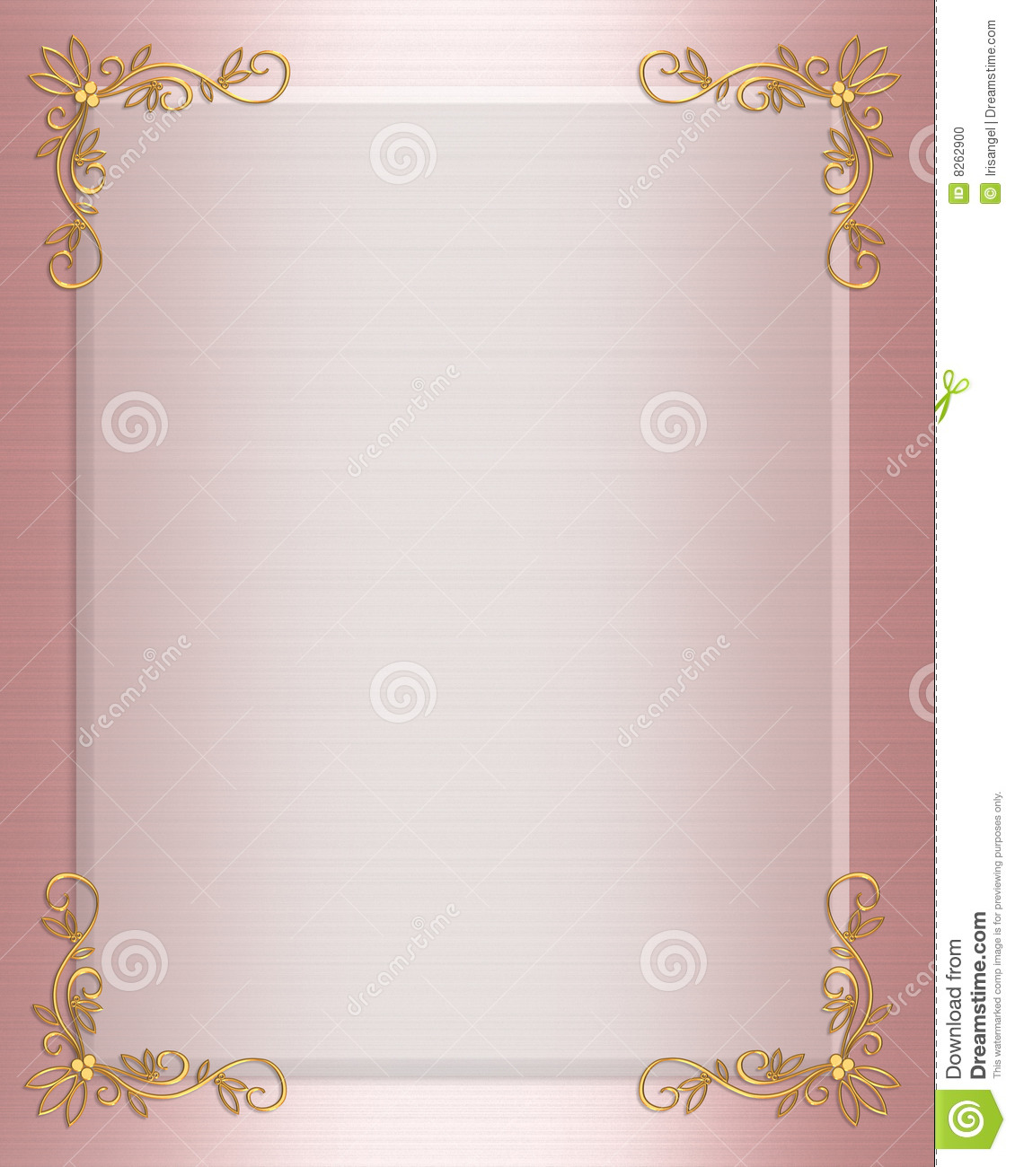 Formal wedding invitation border pink satin stock illustration formal wedding invitation border pink satin stopboris Choice Image