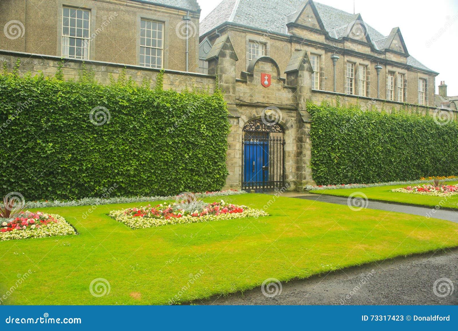 Formalny ogród, uniwersytet St Andrews, StAndrews, UK