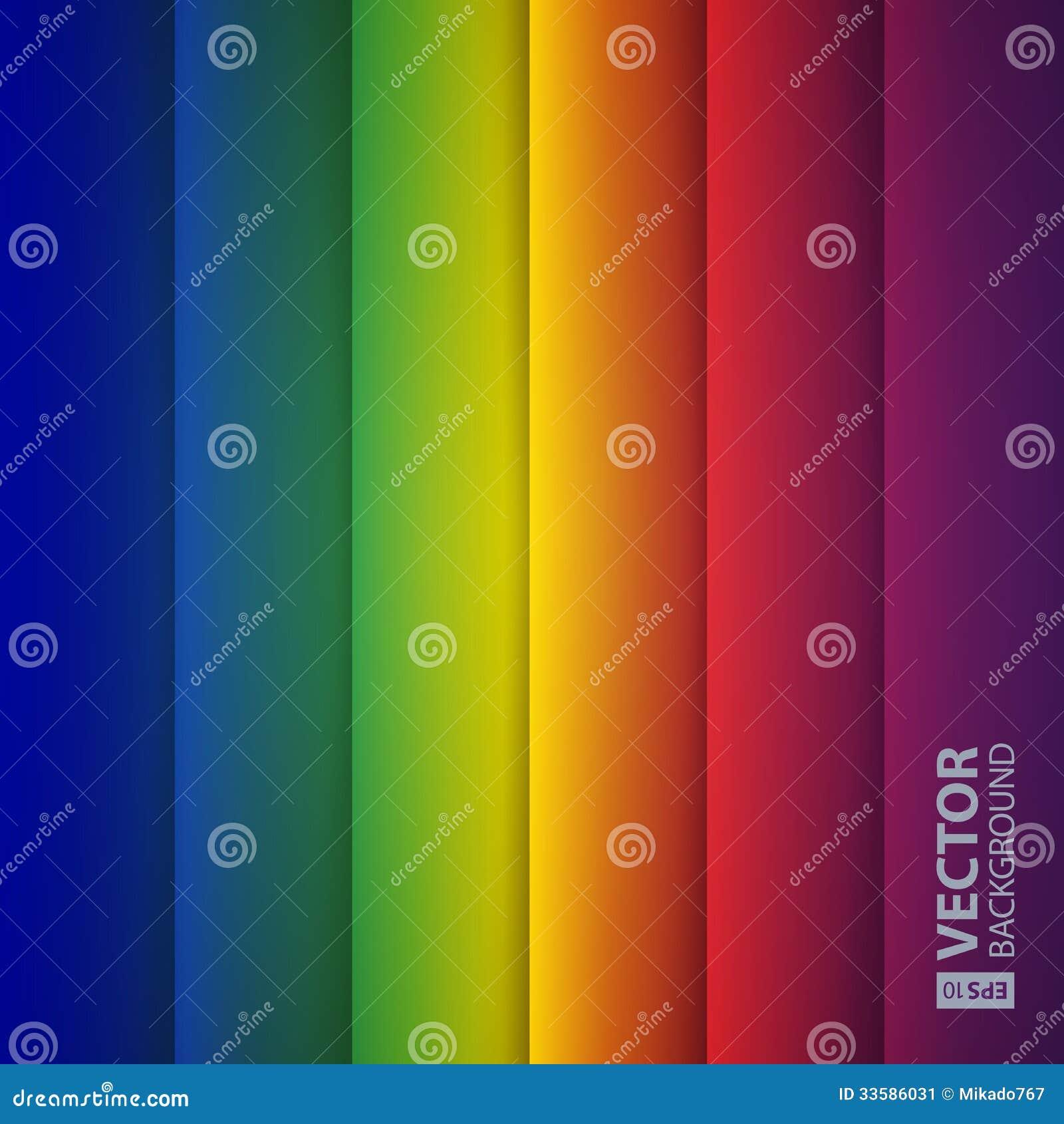 Formas abstractas del rectángulo del arco iris