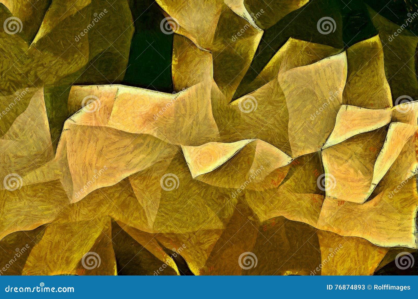Formas angulares Painterly