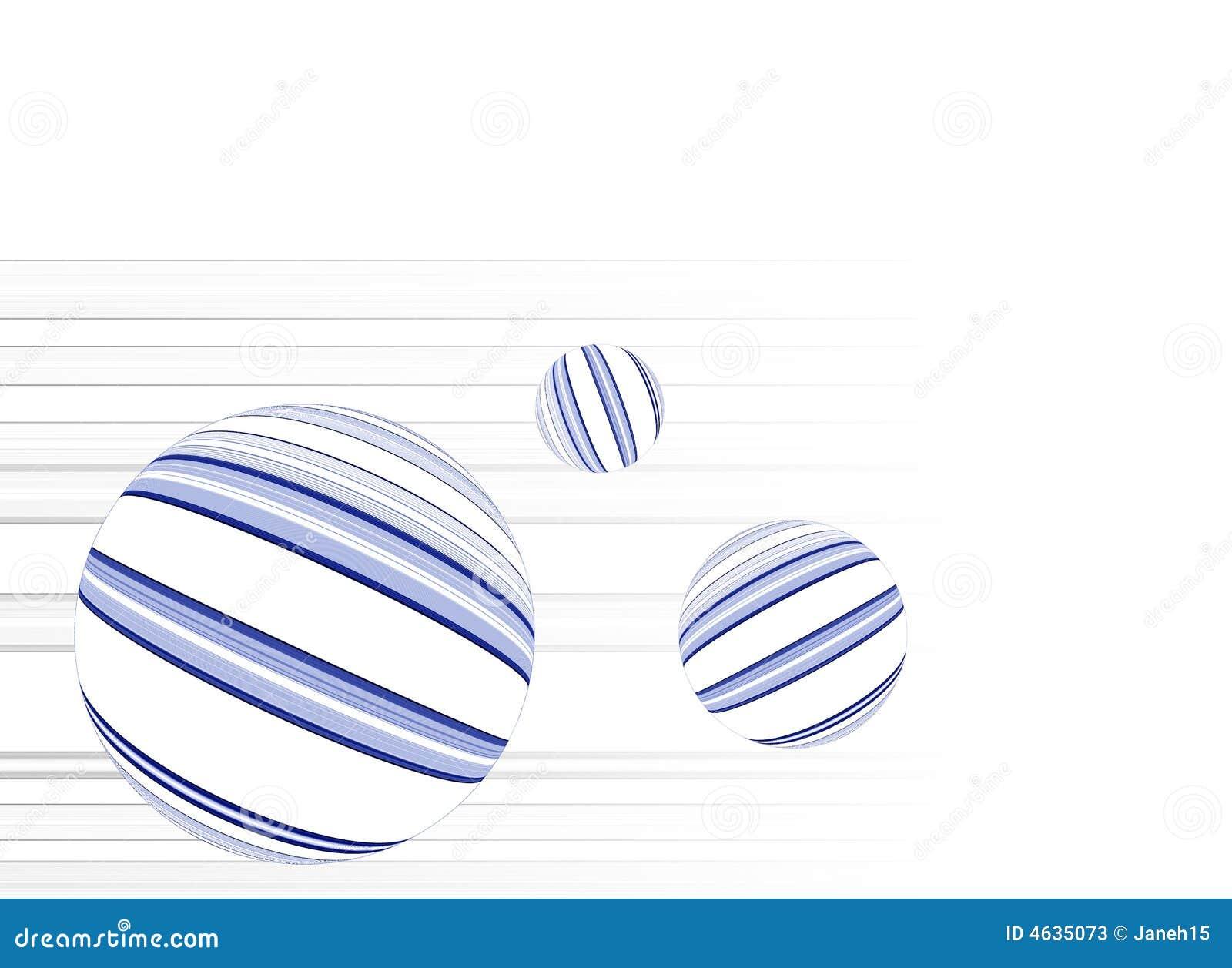 Formas da esfera com linhas