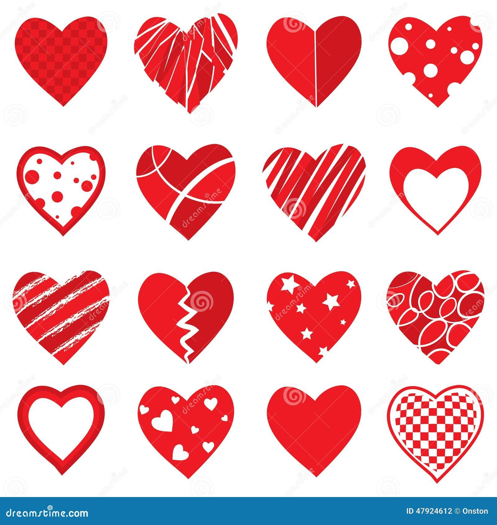 Formas del corazón del vector