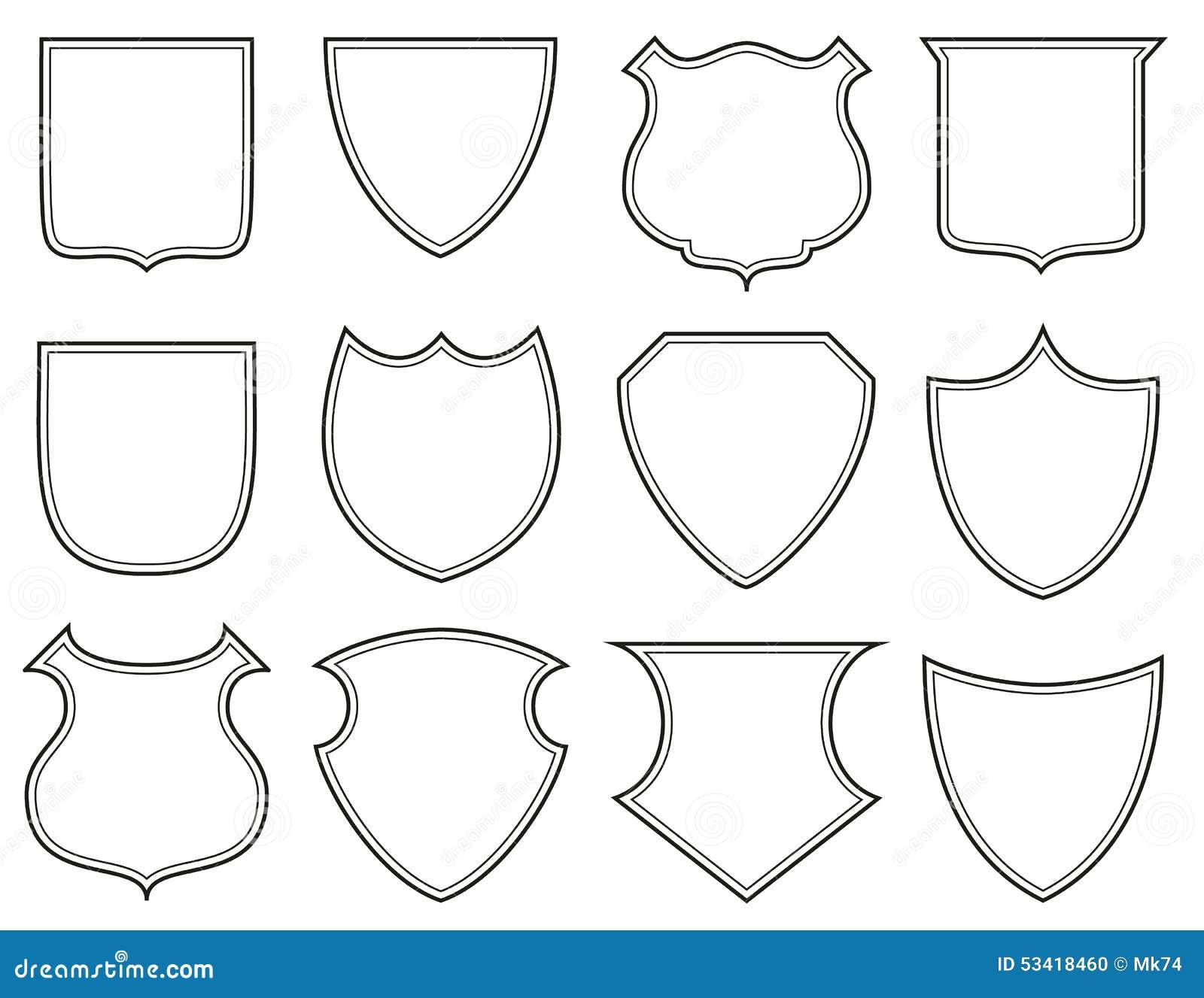 Formas Del Escudo Stock De Ilustraci 243 N Imagen 53418460