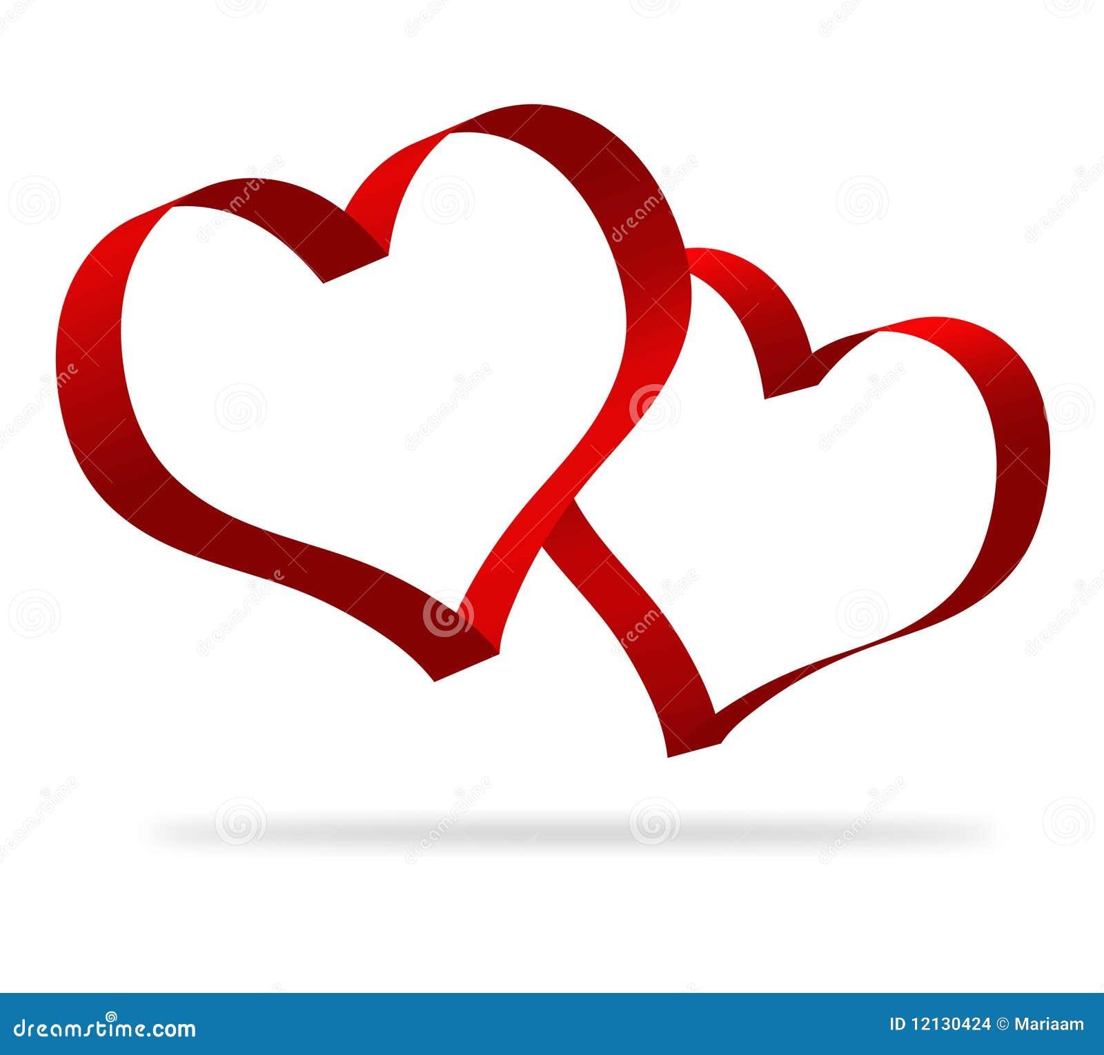 Formas do coração 3d