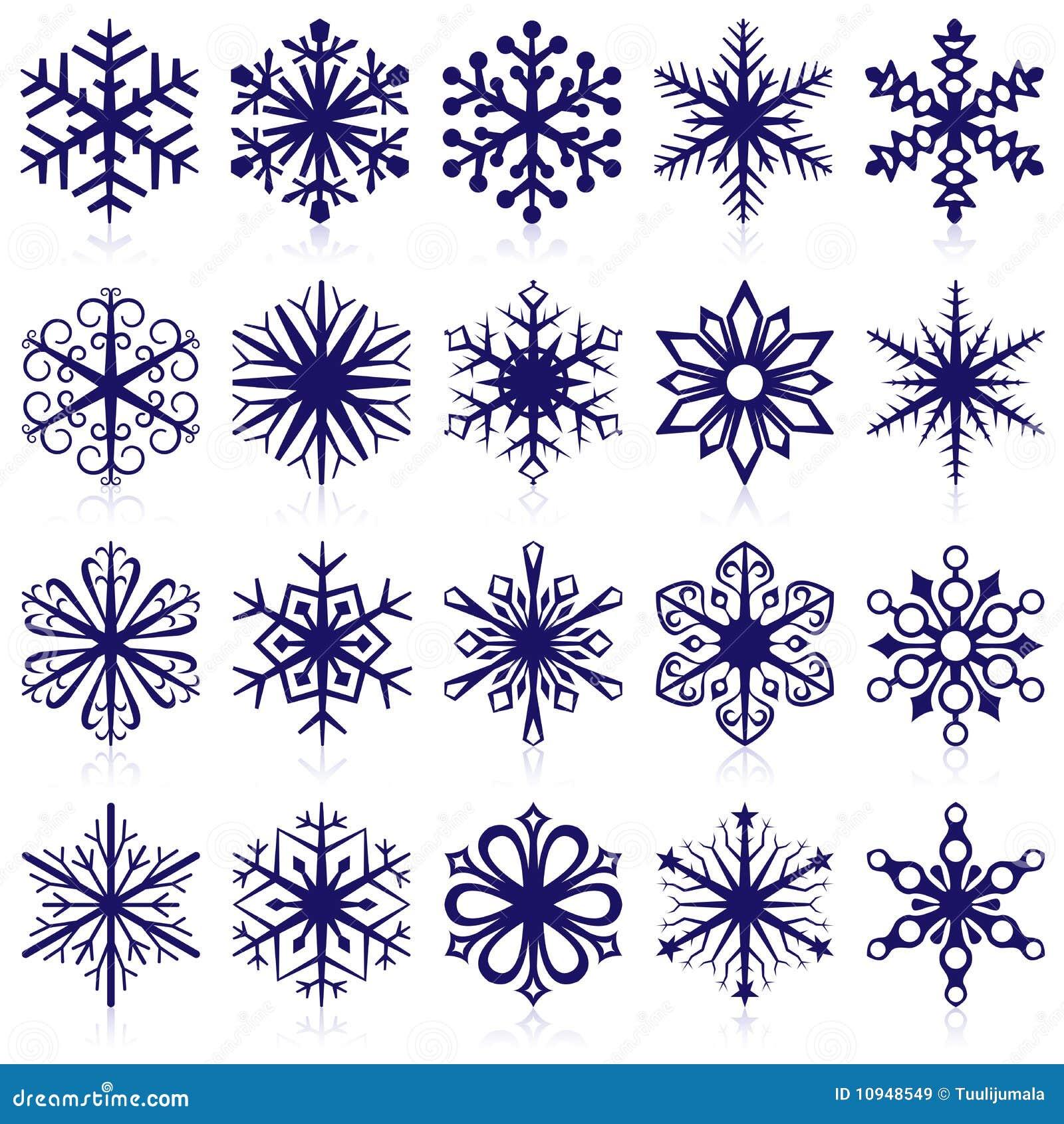 Formas do floco de neve