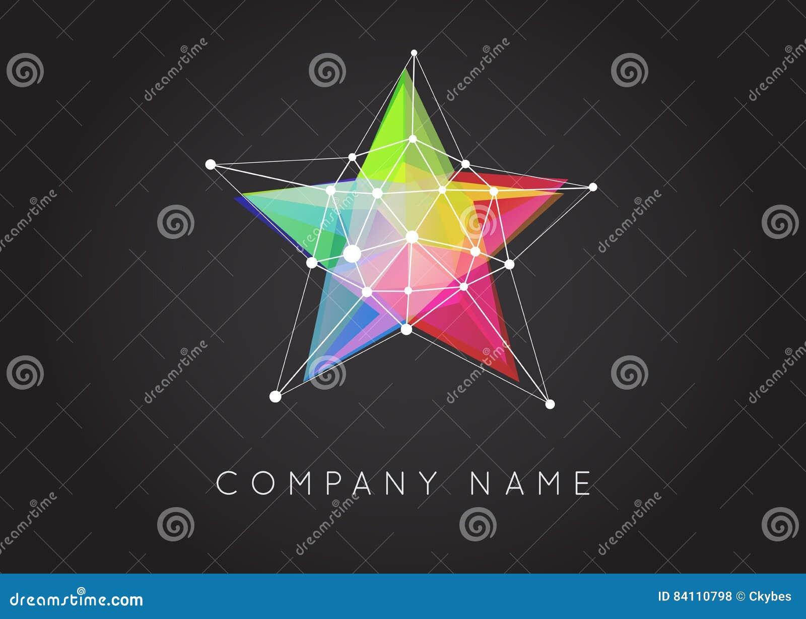 Formas geométricas inusuales y logotipo abstracto del vector Co poligonal