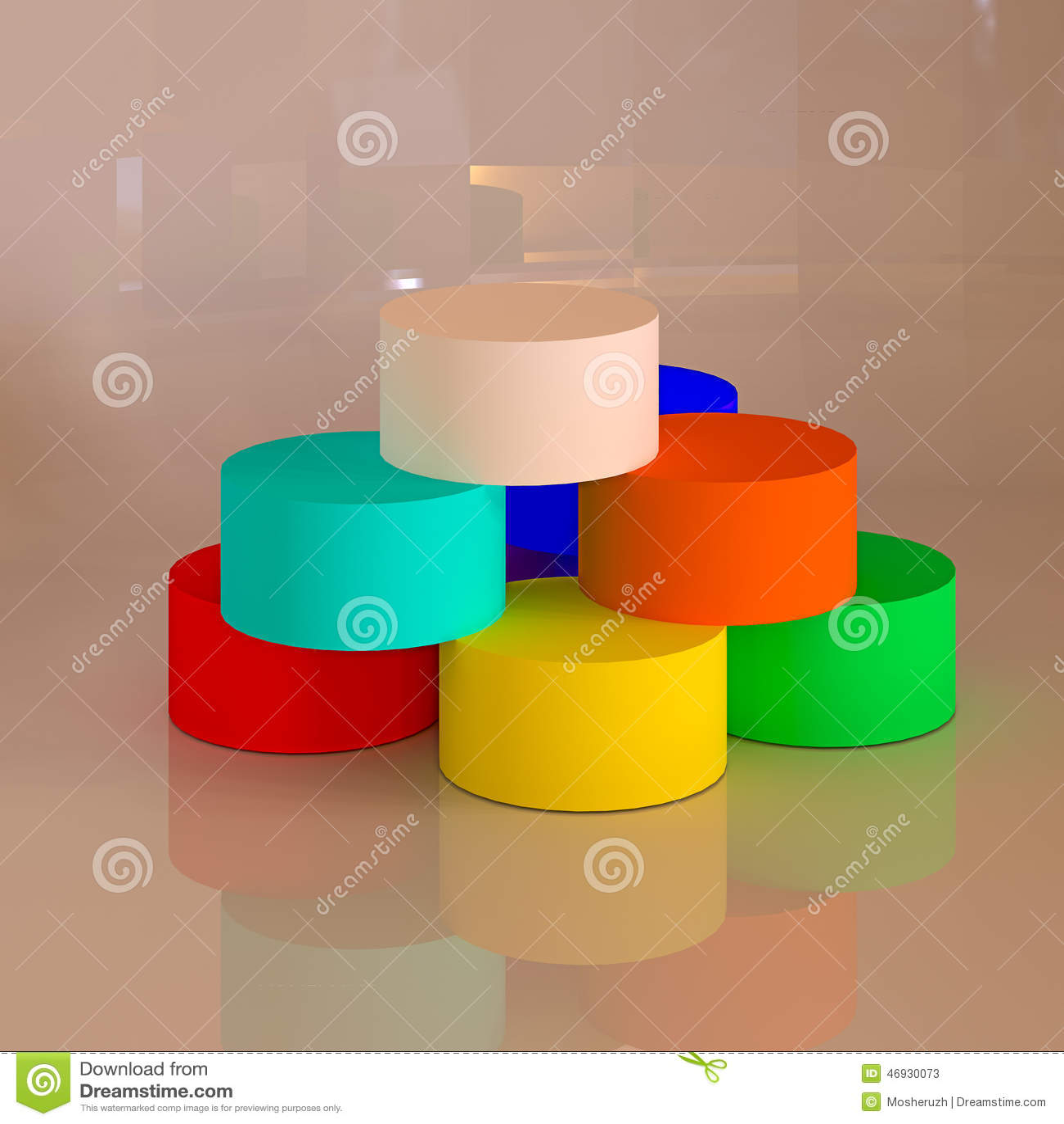 Formas geom tricas abstractas 3d cilindros stock de for Imagenes abstractas 3d