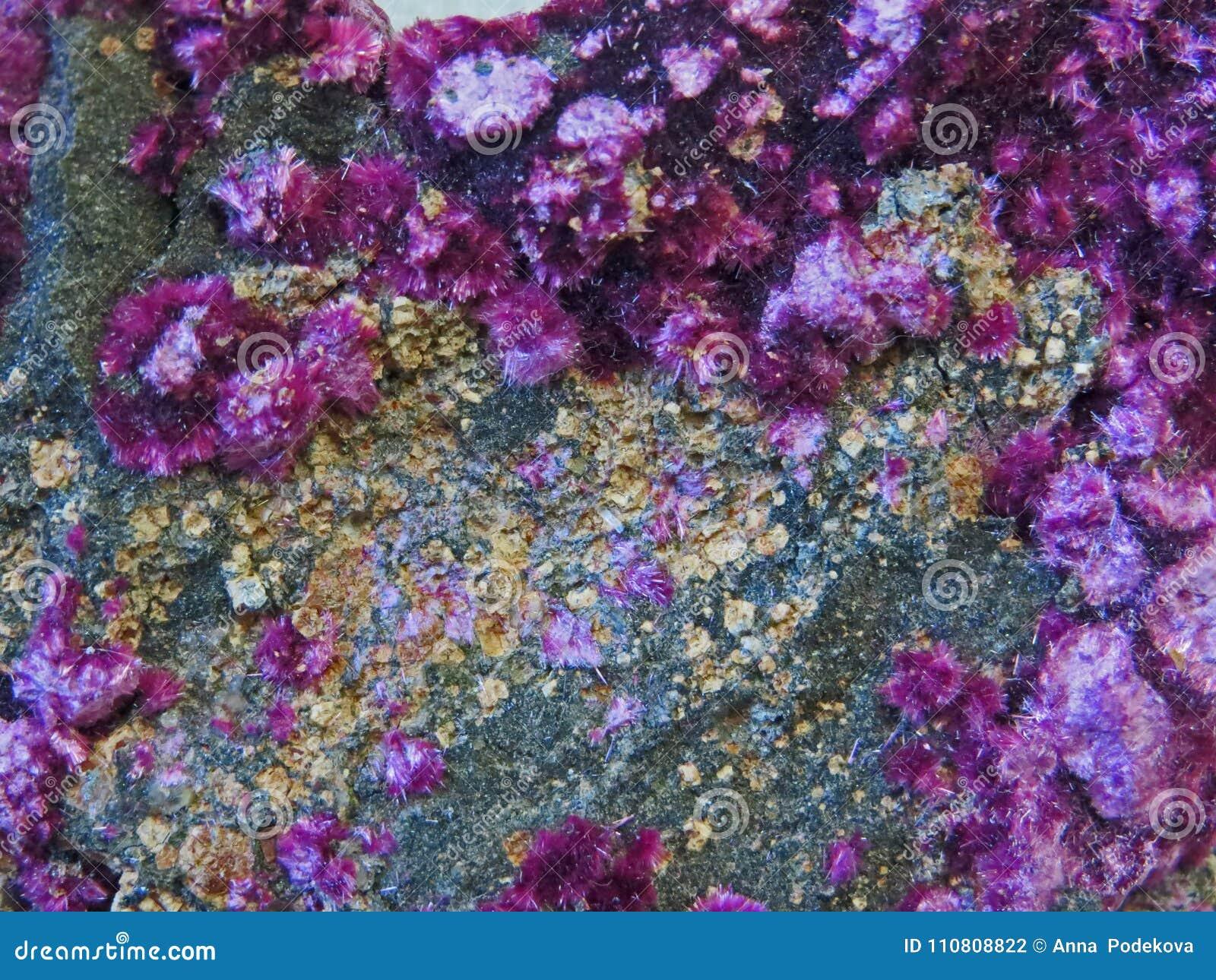 Formas naturais Minerais e texturas e fundos semipreciosos das pedras