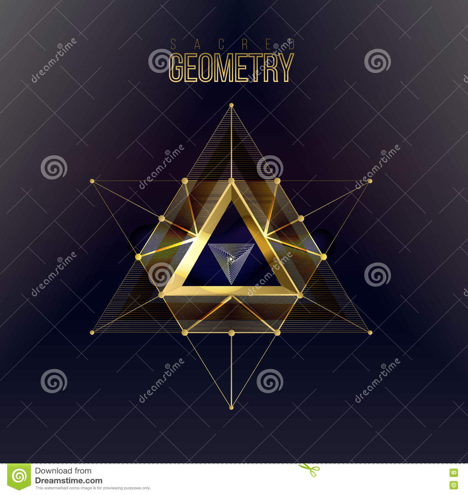 Formas sagradas de la geometría en fondo del espacio,