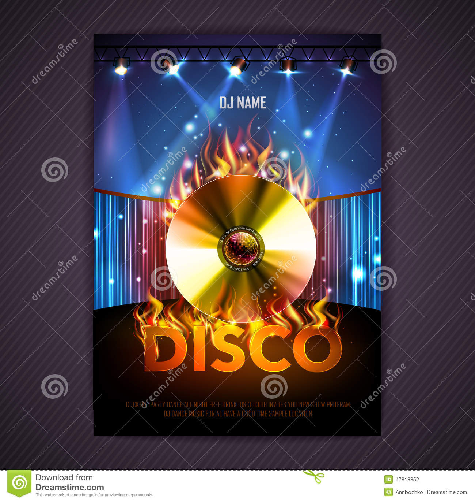 Format disco dodatkowego tło Dyskoteka plakat