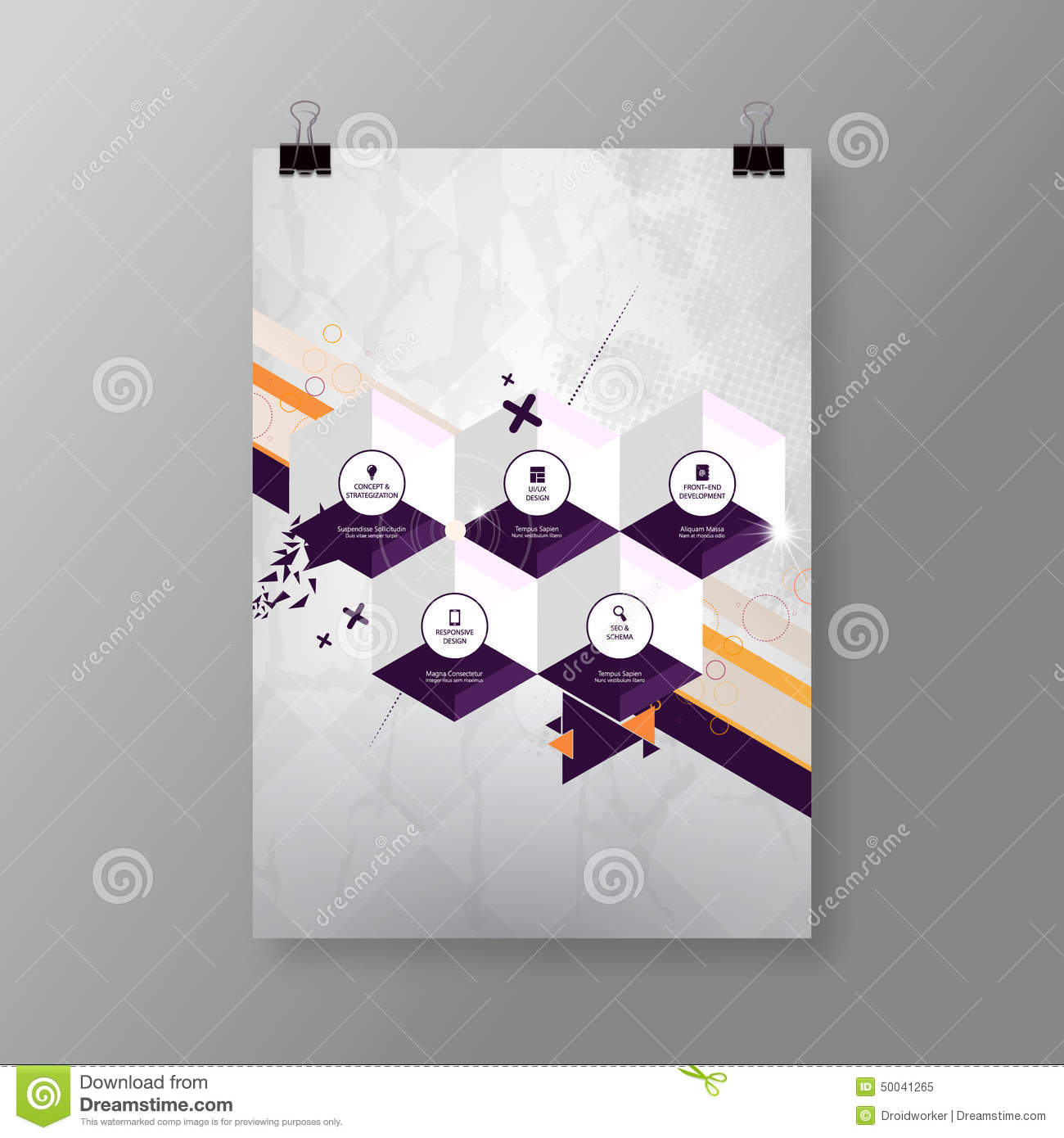 Poster design eps - A4 A3 Format Poster Minimal Hexagons Abstract Background With Your Text Eps 10 Stock