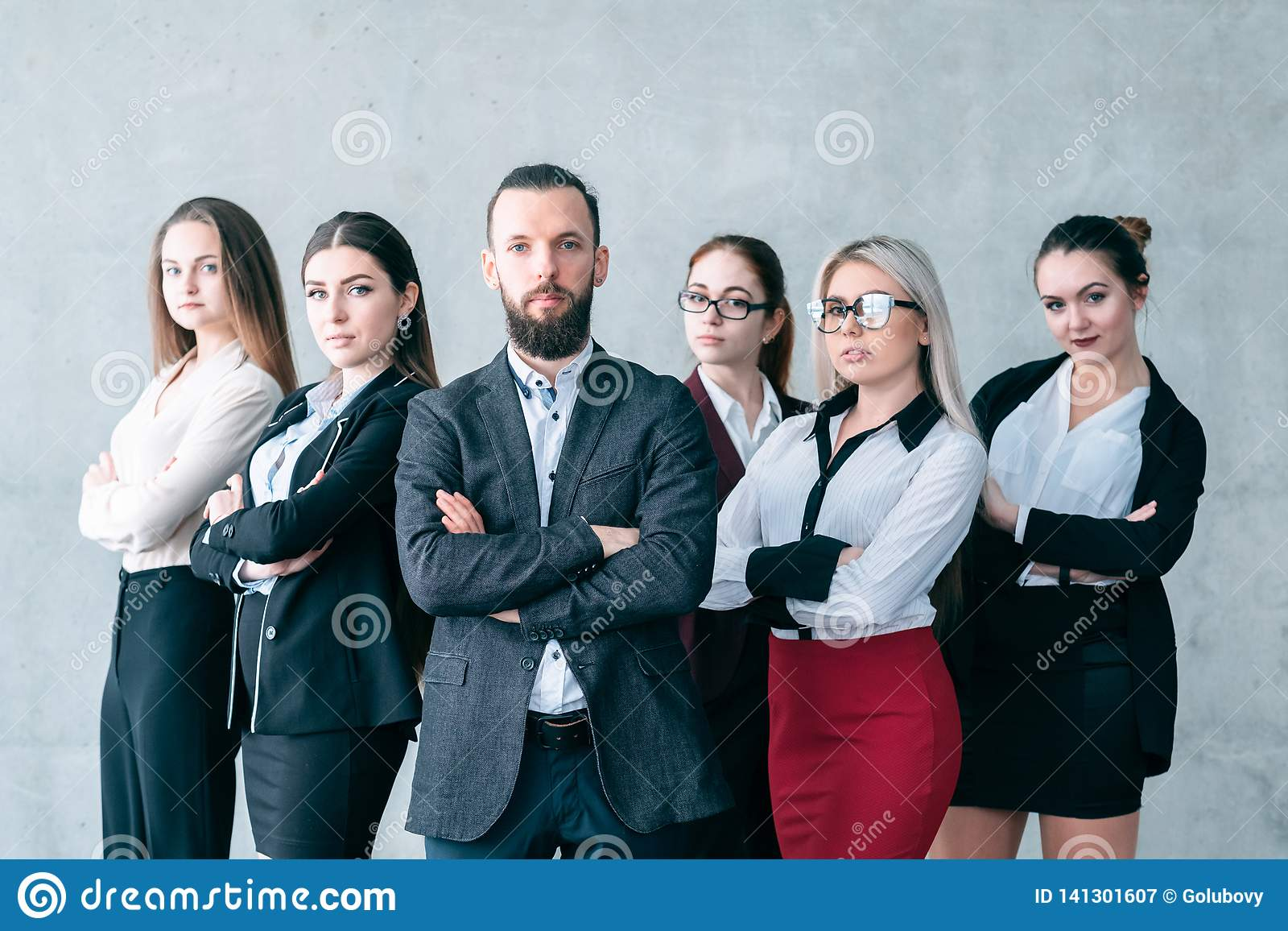Formation d entreprise d équipe d entraîneur sûr d affaires