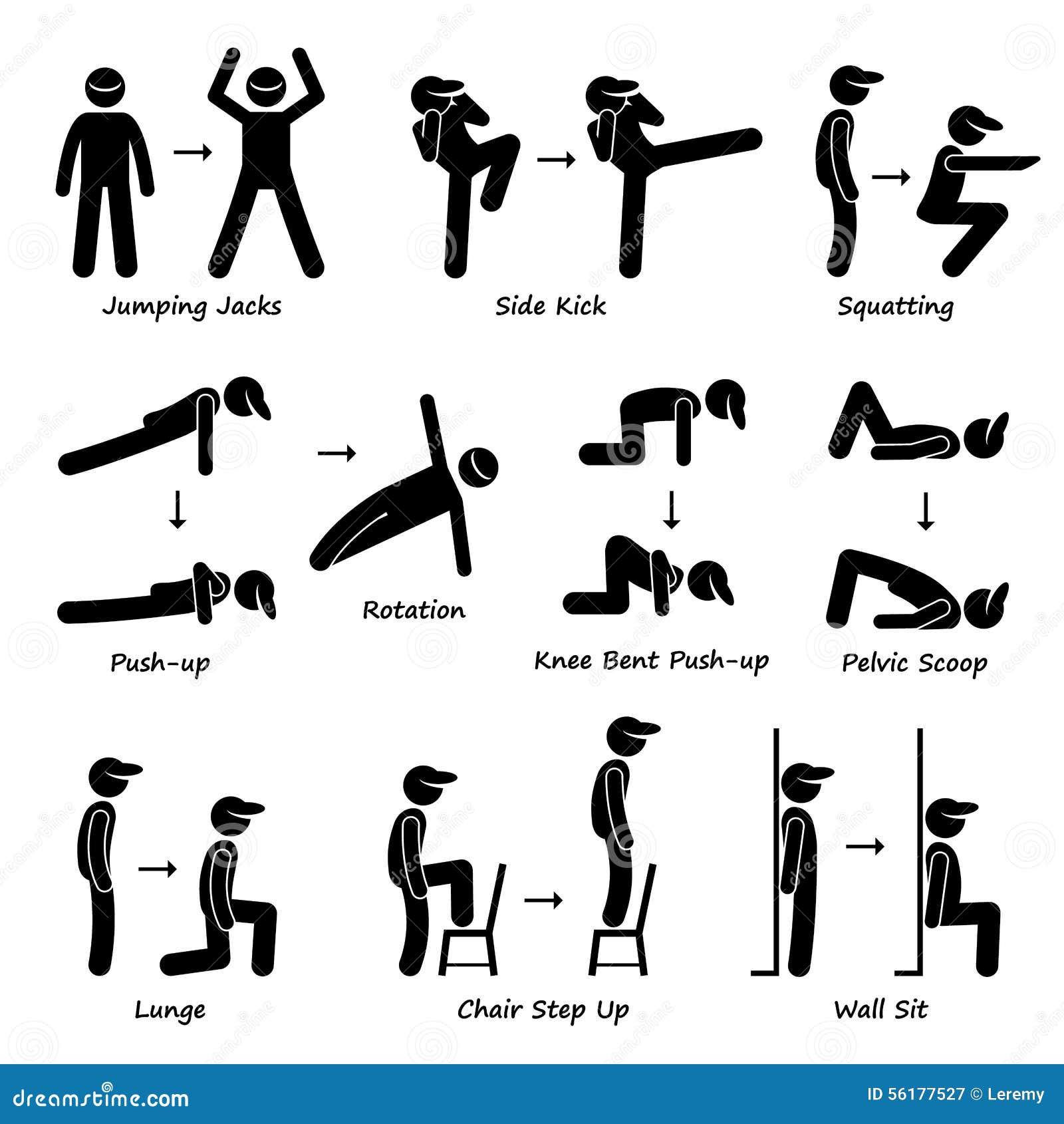 Formation De Forme Physique D Exercice De S 233 Ance D Entra 238 Nement De Corps Placez 1 Clipart