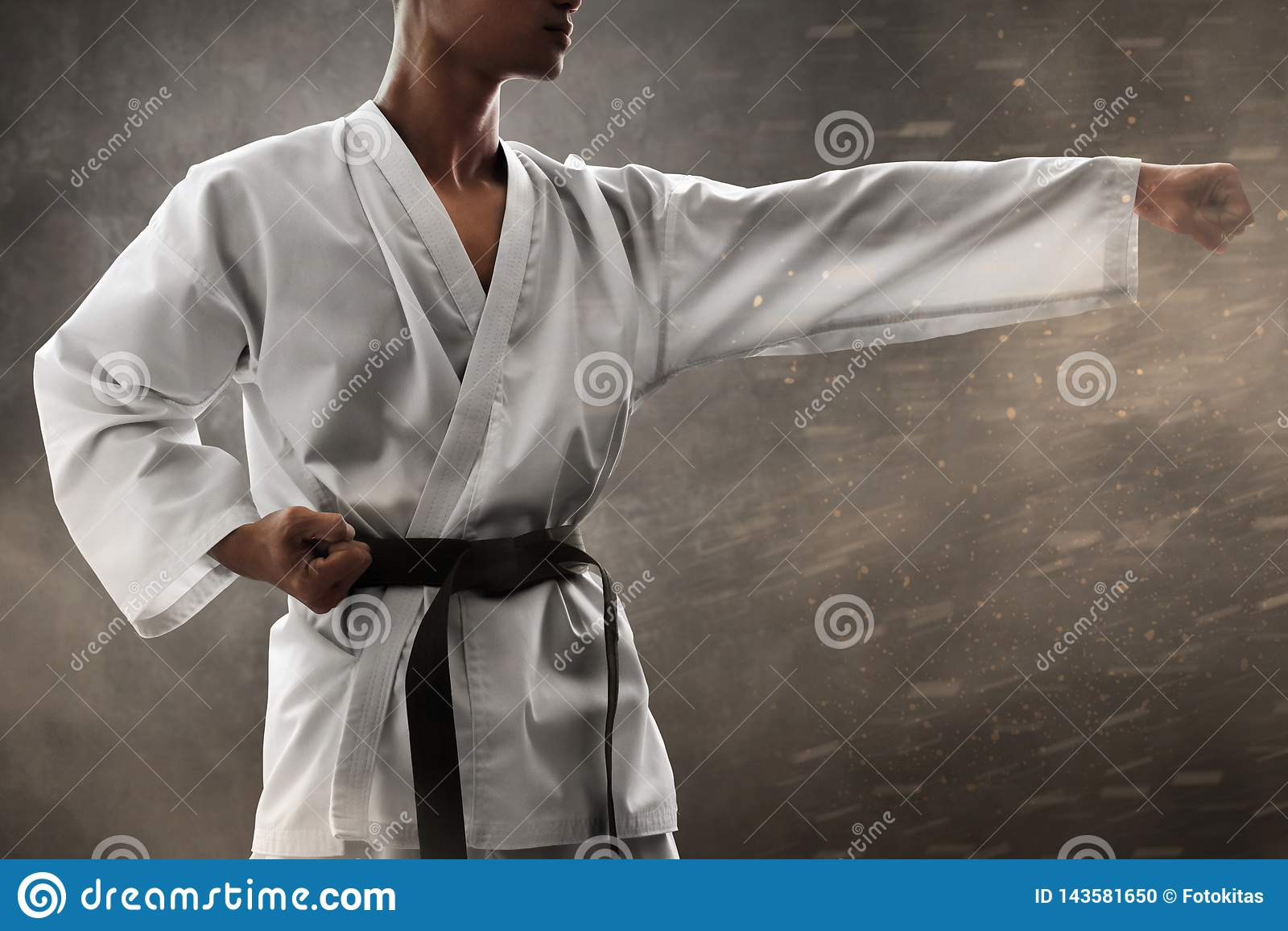 Formation de poinçon de combattant d art martial