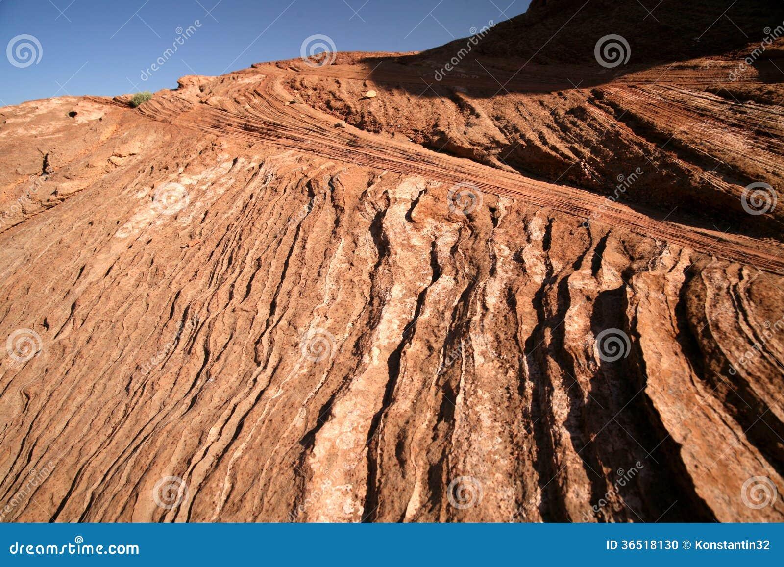 Formation de roche à la courbure en fer à cheval en Utah, Etats-Unis