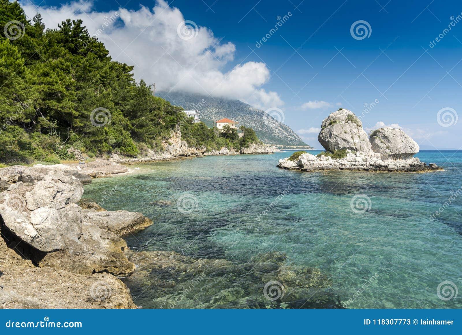 Formation de roche côtière Poros Cephelonia