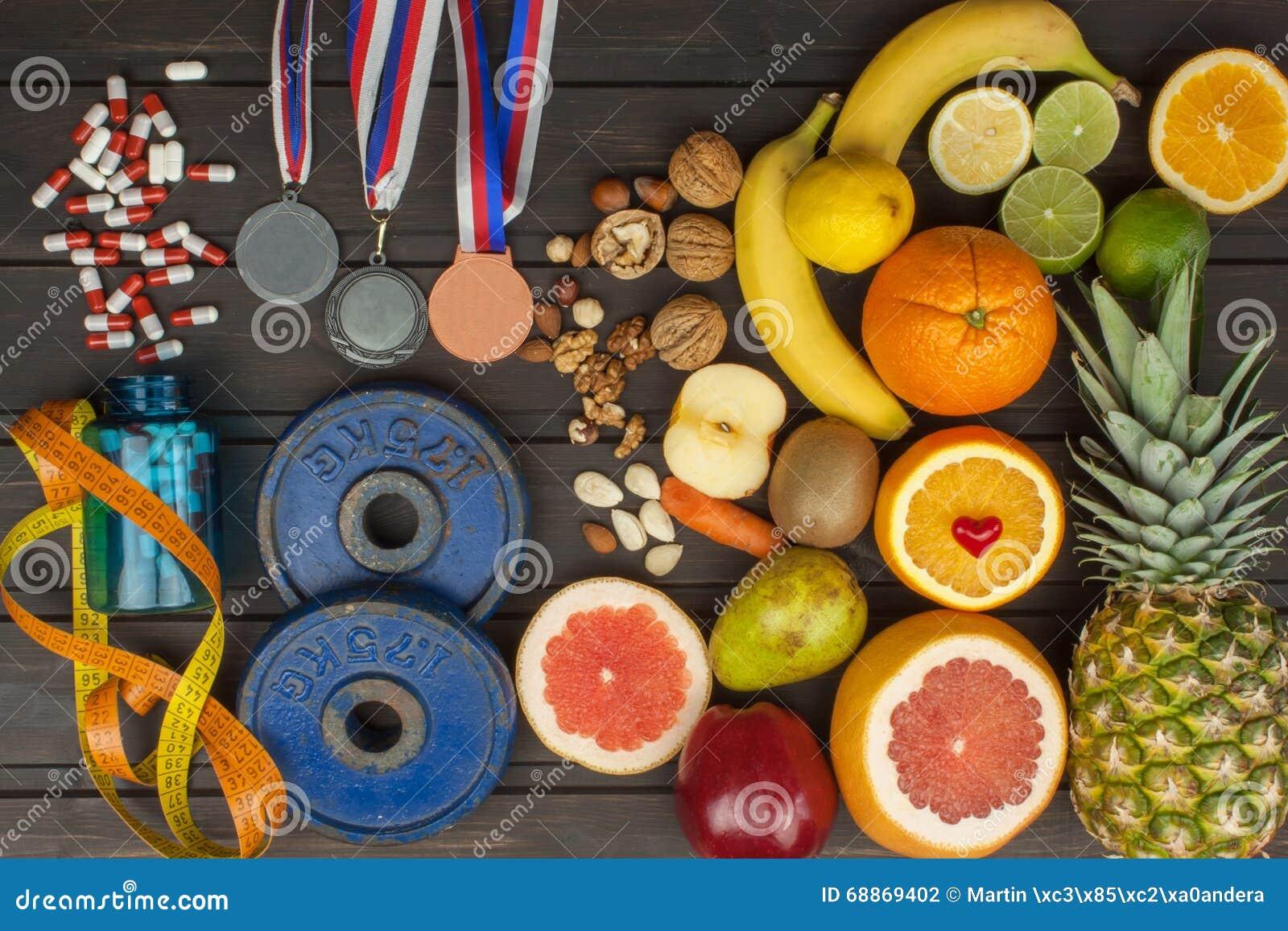 Formation de sports et une alimentation saine Nutrition saine pour des athlètes Accomplissements sportifs