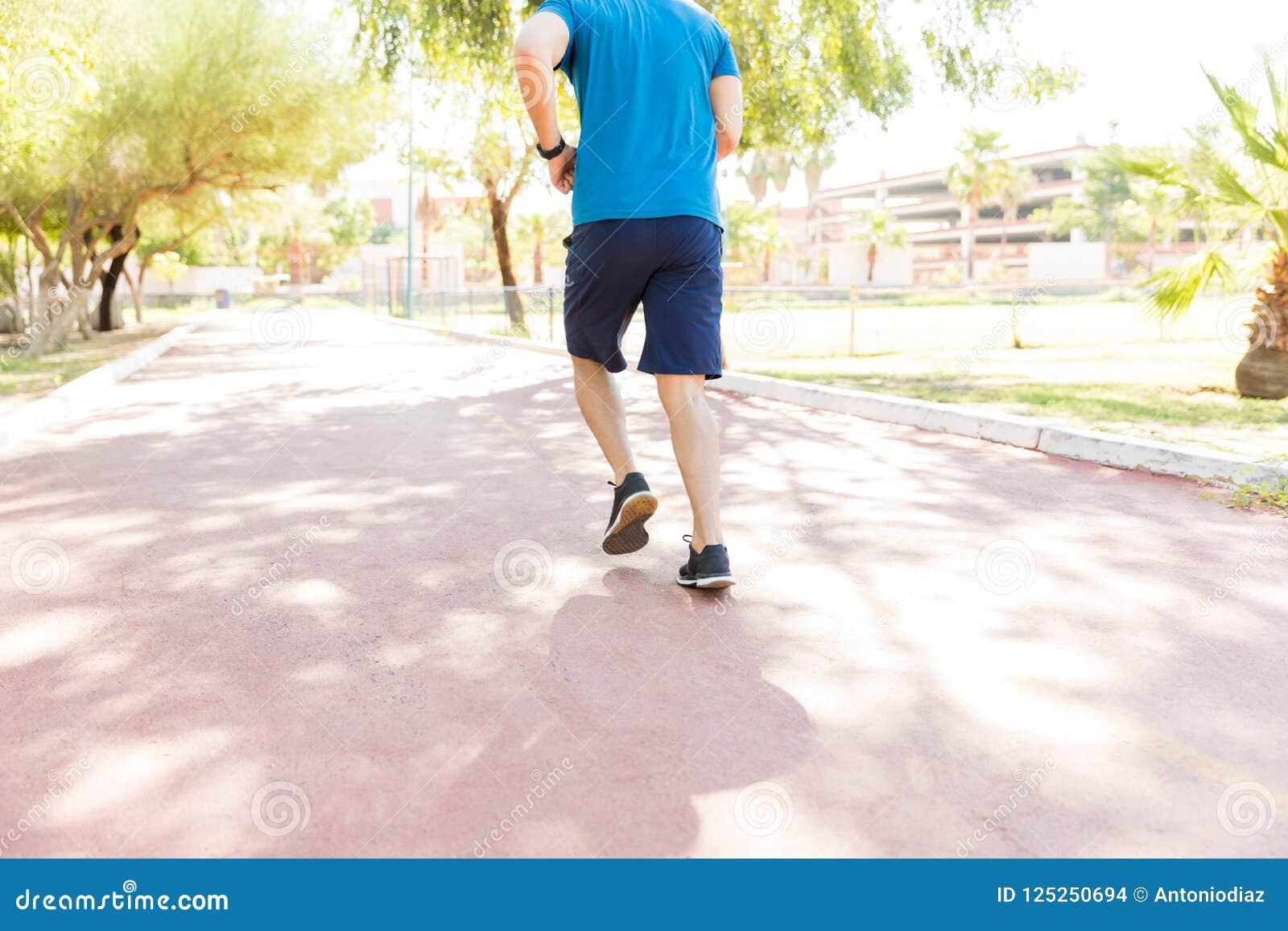Formation de taqueur sur le sentier piéton pendant le Sunny Day In Park