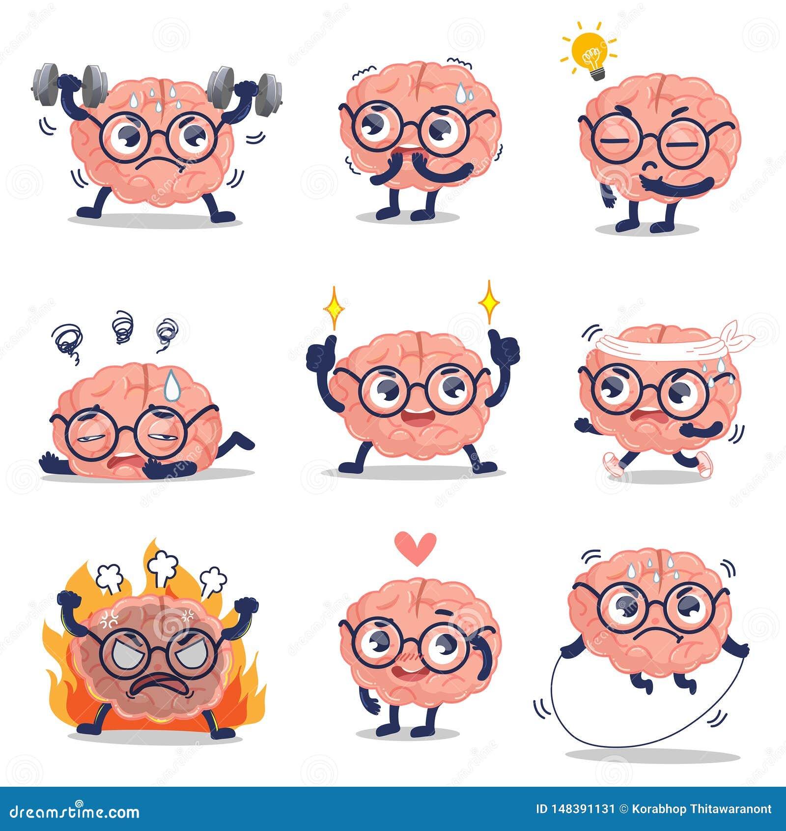 Formation mignonne de cerveau drôle et beaucoup action