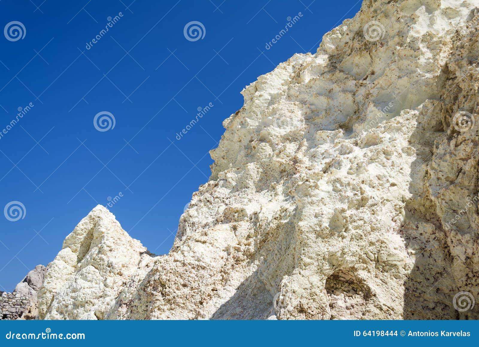 nouveau style 03a41 456b6 Formation Minérale De Roche Blanche Aux Milos île, Grèce ...