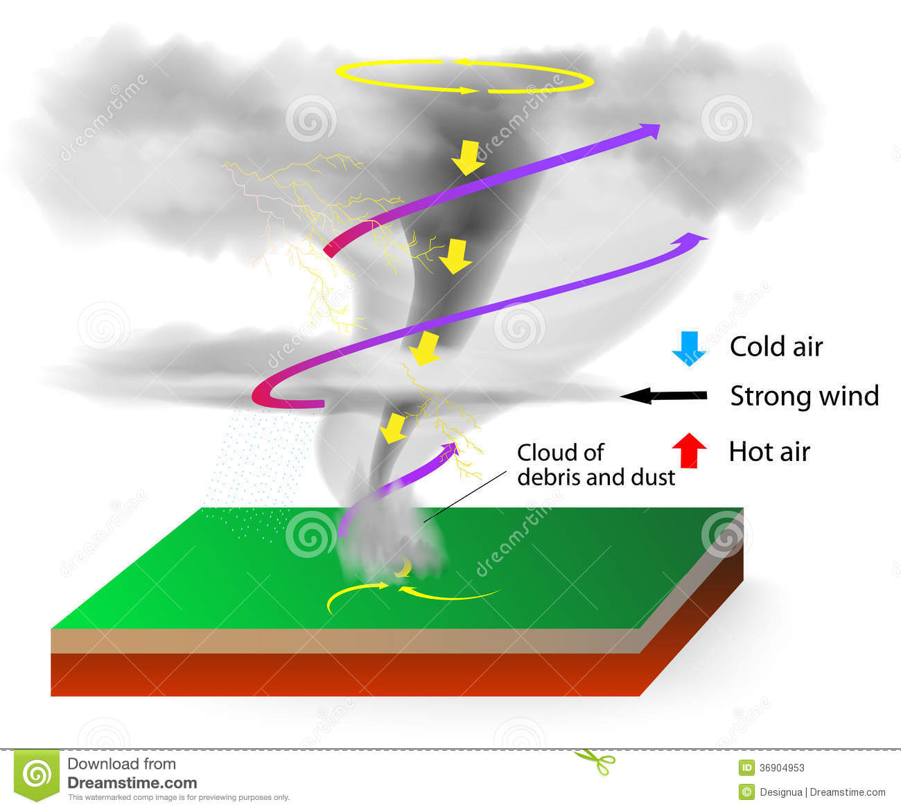 a description of thunderstorms as where lightning and thunder occur A thunderstorm is a storm where you hear thunder and see lightning thunderstorms normally occur in hot, humid weather so are mostly in summer.
