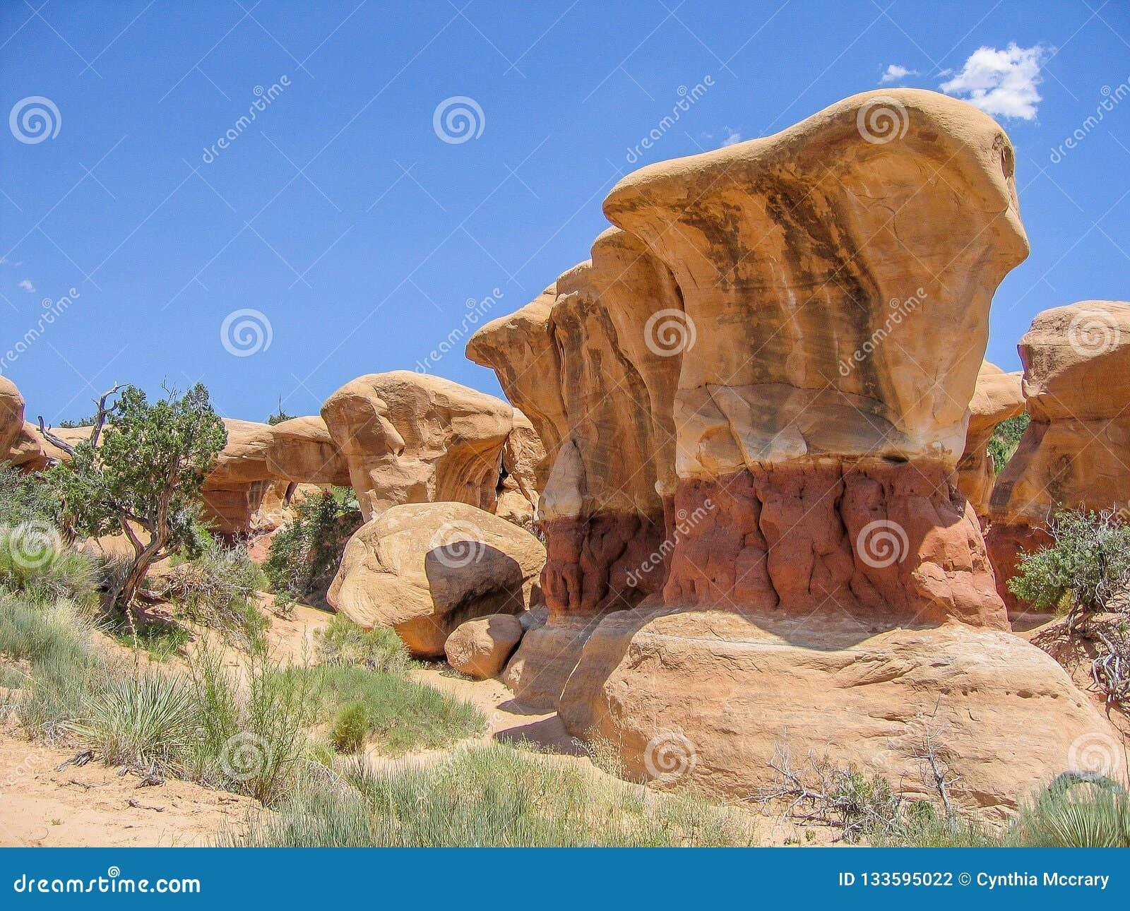 Formations de grès du jardin du diable près d Escalante, Utah