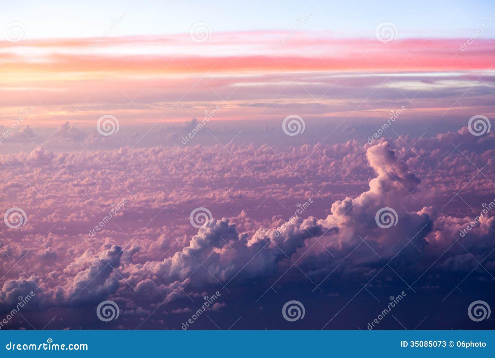 Formations de nuage et de ciel vues de l avion
