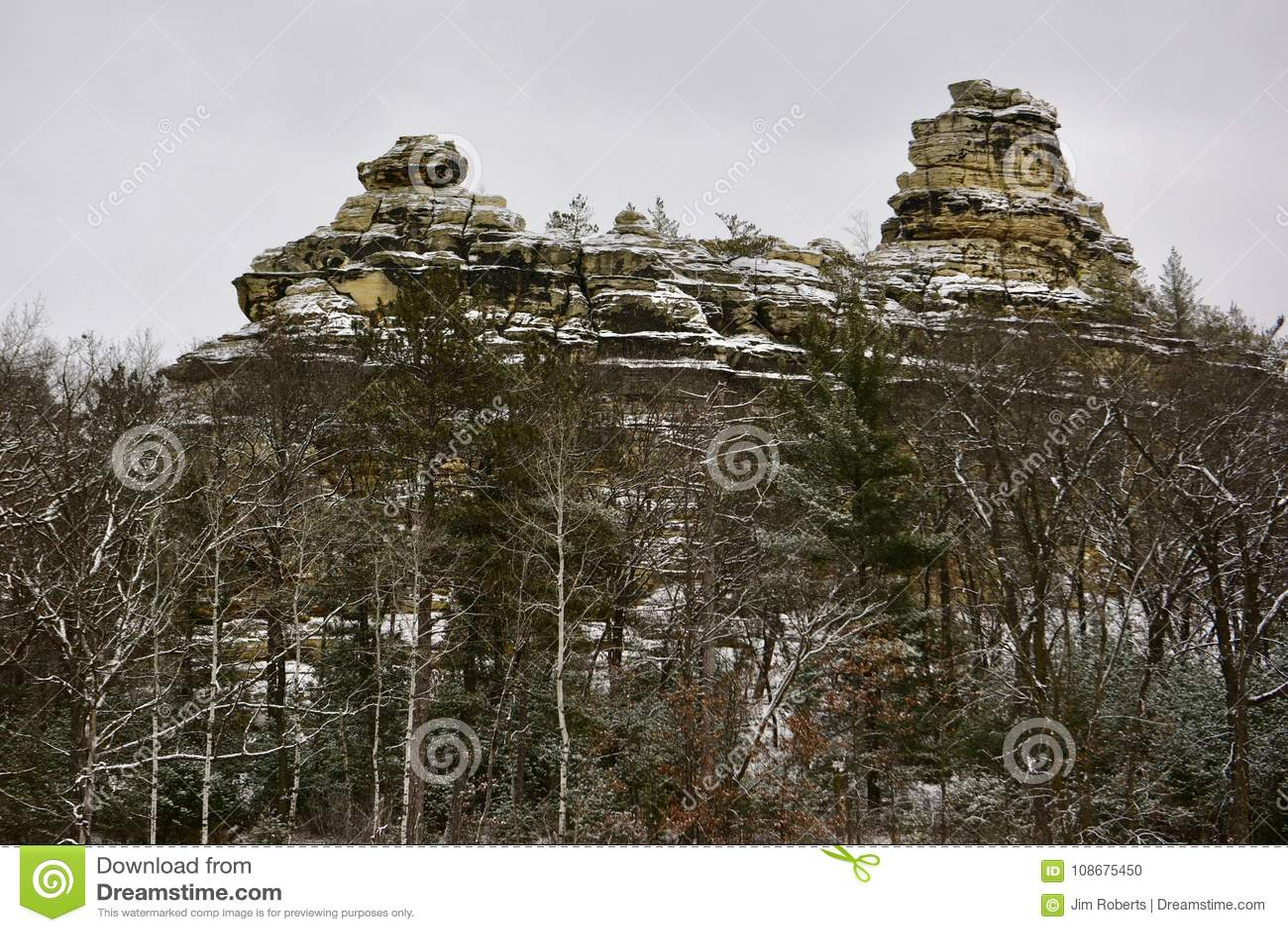 Formations de roche cambriennes de grès